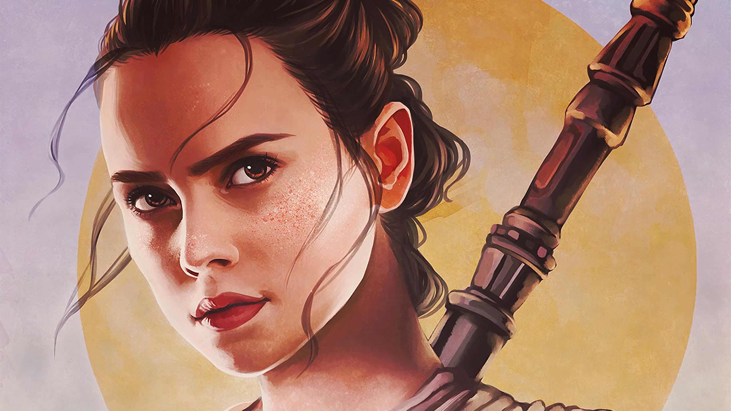 Rey Star Wars Fanart 2560x1440 Wallpaper Teahub Io