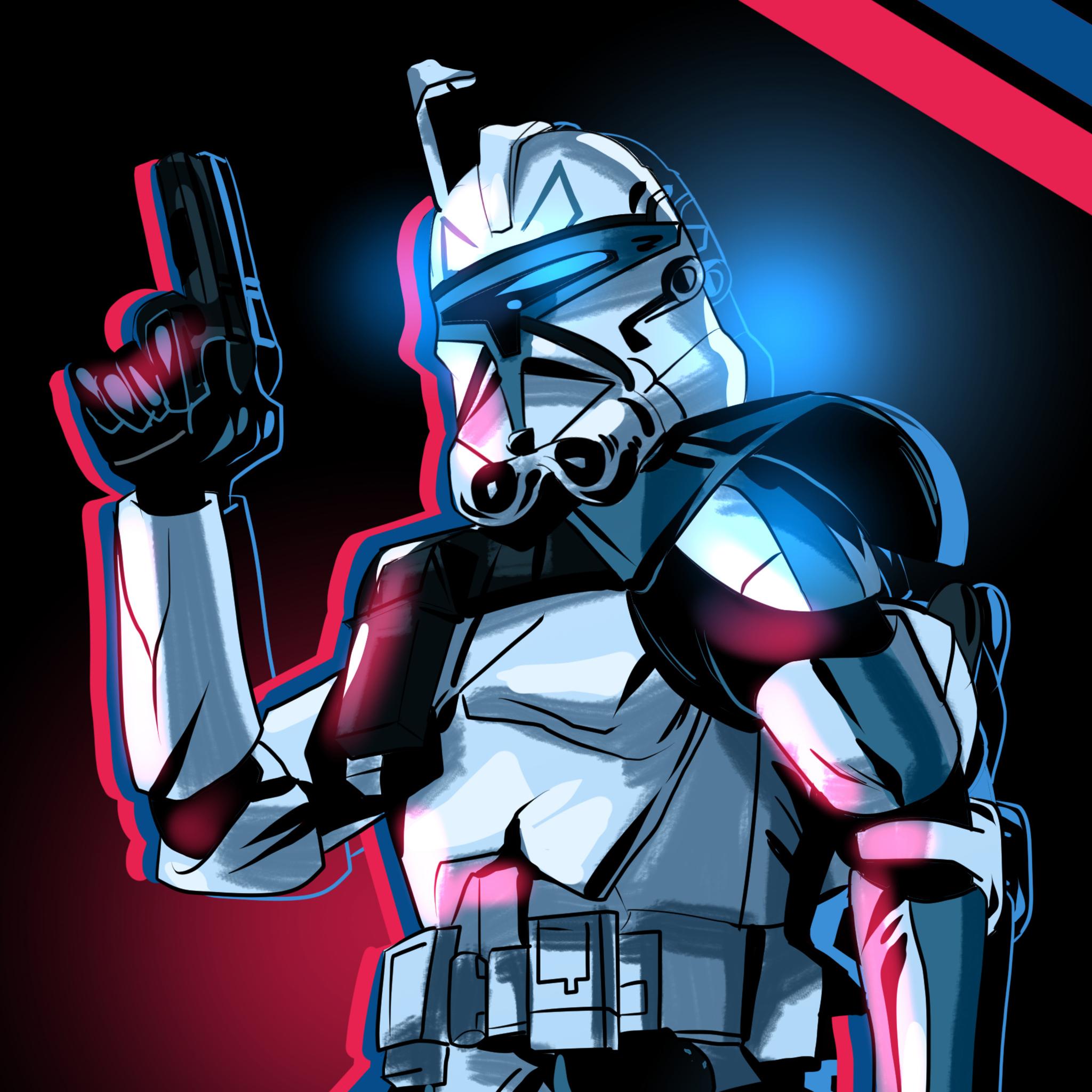 Star Wars Art Tablet Wallpaper Wallpaper 2048x2048 Wallpaper Teahub Io