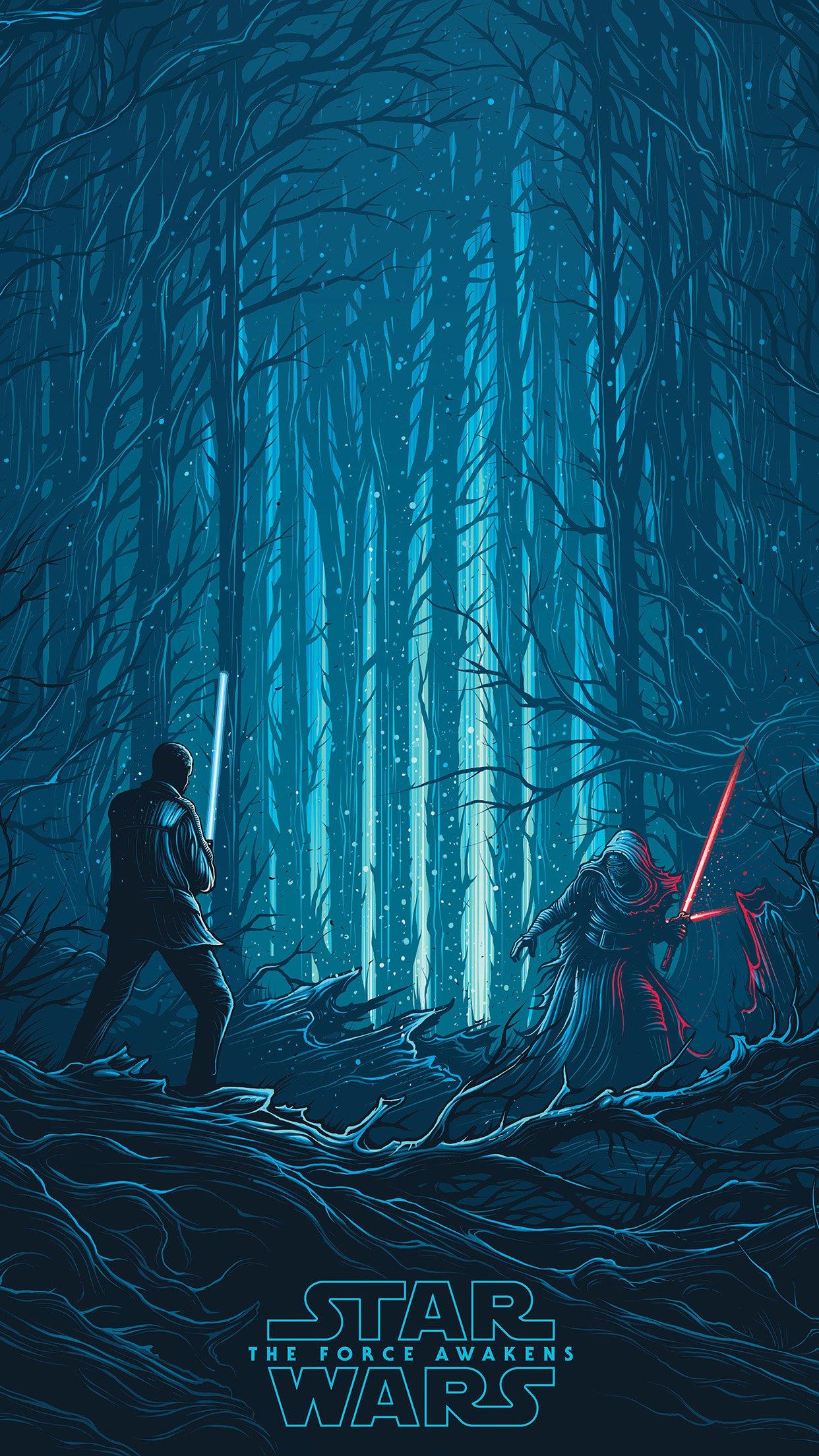 Starwars Illustration Blue Art Film Android Wallpaper Star Wars Art Wallpaper Iphone 1242x2208 Wallpaper Teahub Io