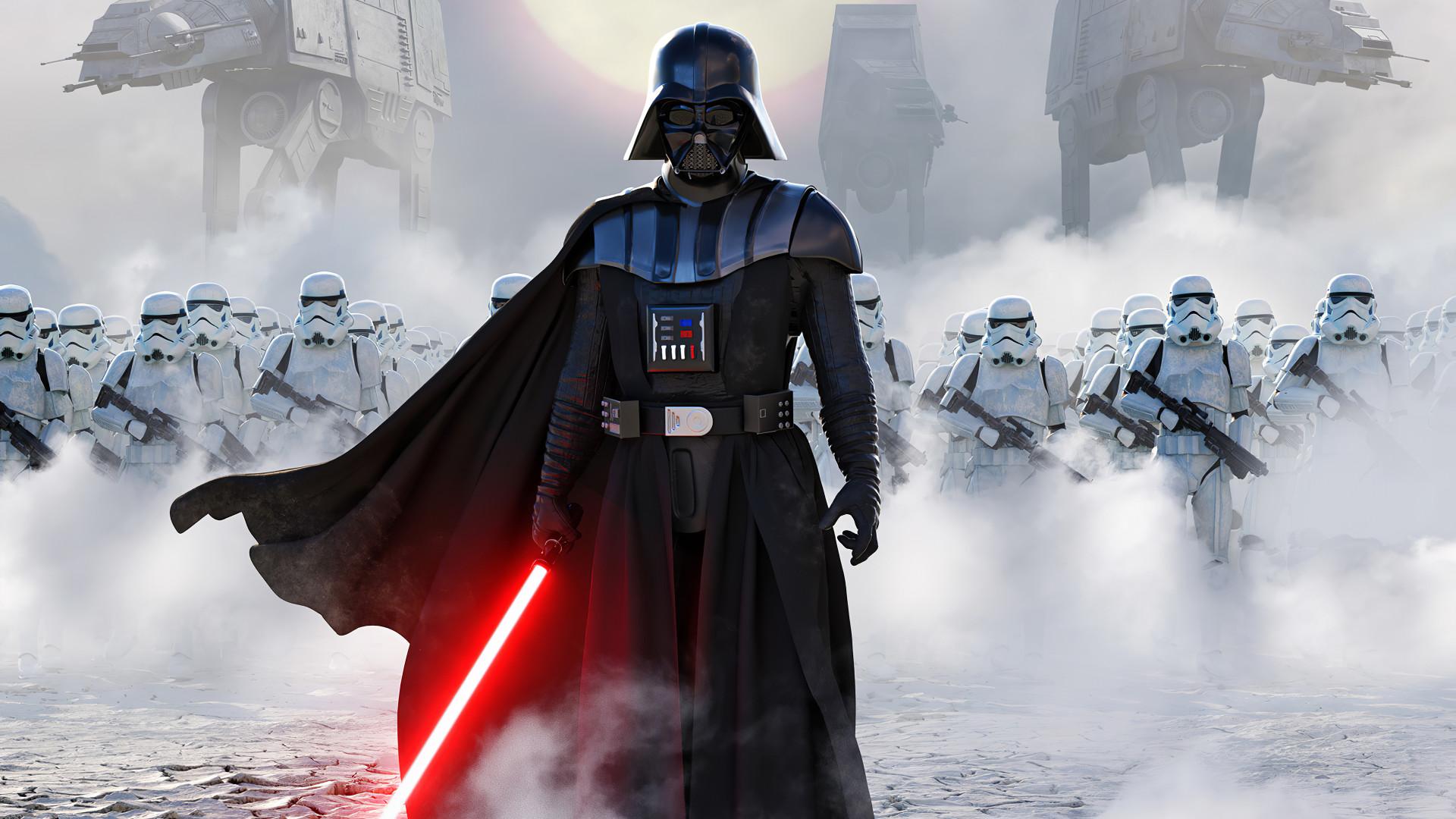 Star Wars Darth Vader Wallpaper 4k 1920x1080 Wallpaper Teahub Io
