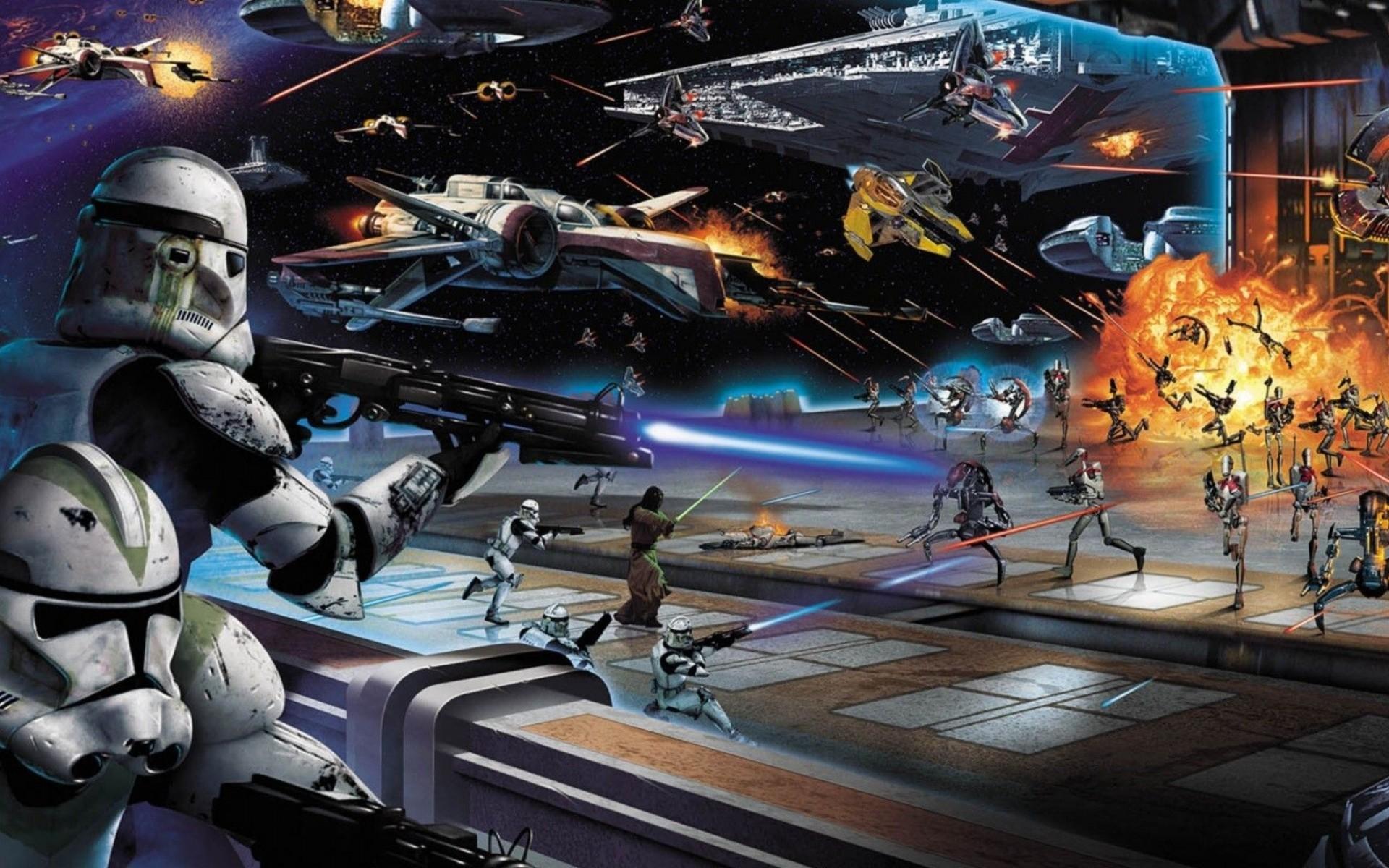 Star Wars Battlefront Sci Fi Warrior Battle R Wallpaper Star Wars Space Battle Background 1920x1200 Wallpaper Teahub Io