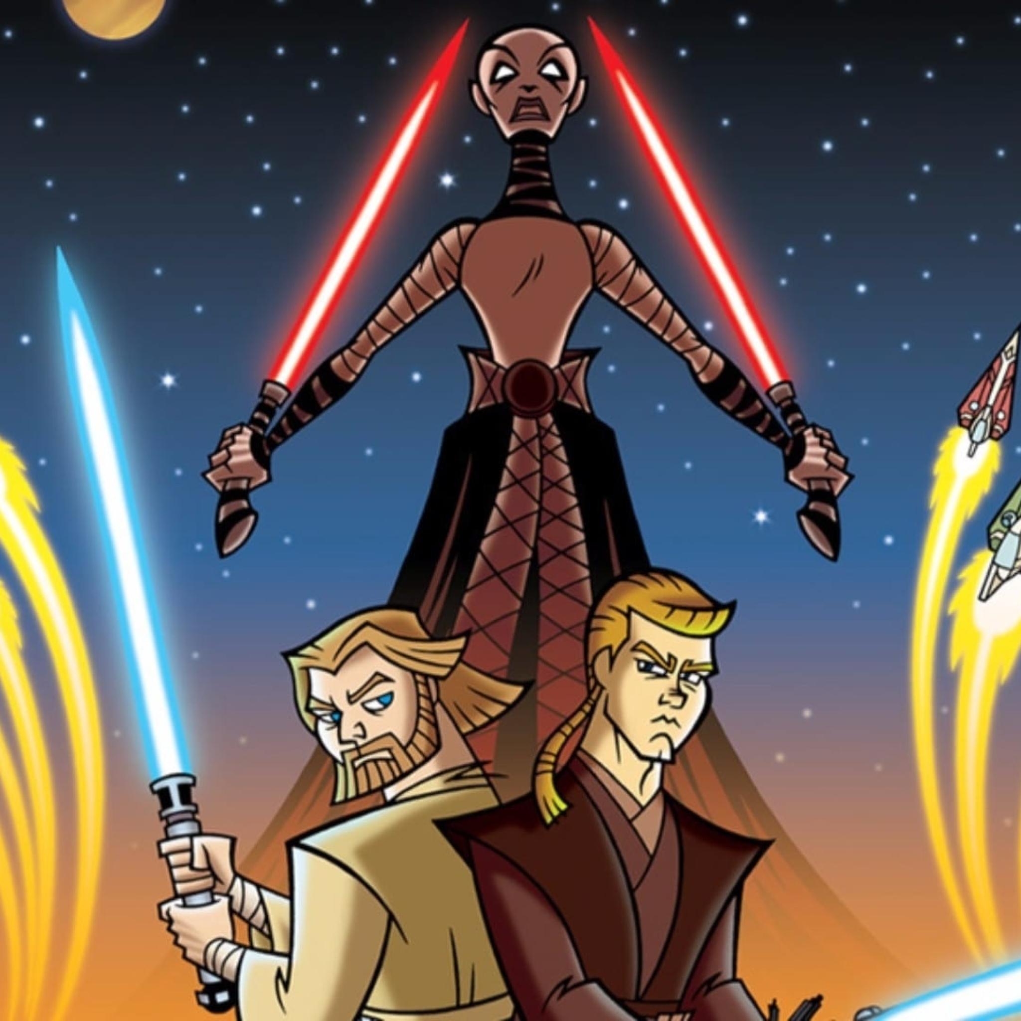 Star Wars Clone Wars 2003 Poster 2048x2048 Wallpaper Teahub Io