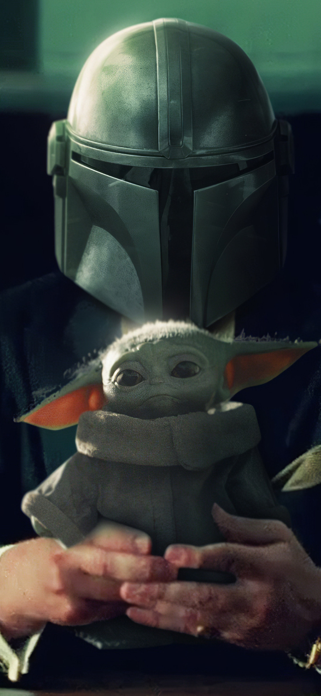 Mandalorian And Baby Yoda Wallpaper 4k 1125x2436 Wallpaper Teahub Io