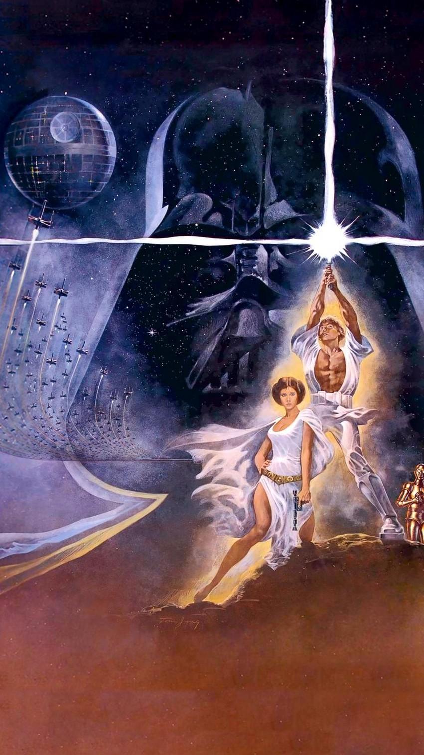 Retro Star Wars Art 850x1512 Wallpaper Teahub Io