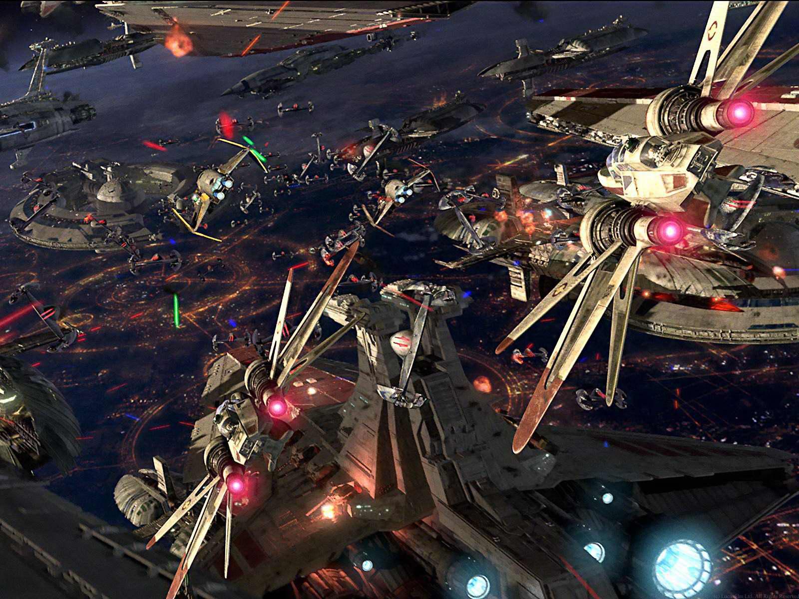 Star Wars Space Battle Wallpaper Battle Of Coruscant Wallpaper Hd 1600x1200 Wallpaper Teahub Io