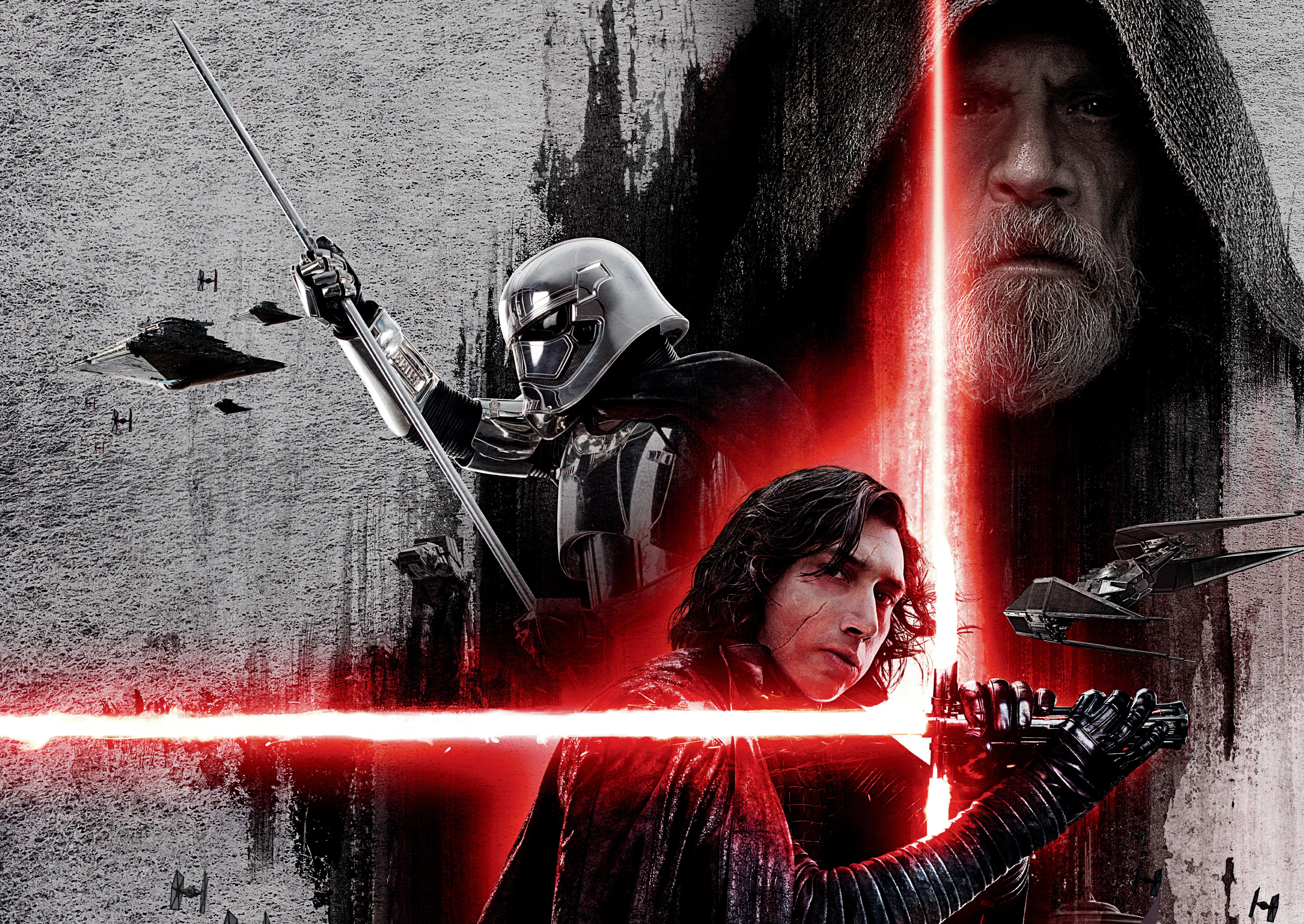 Star Wars The Last Jedi Dark Side Poster 6294x4460 Wallpaper Teahub Io