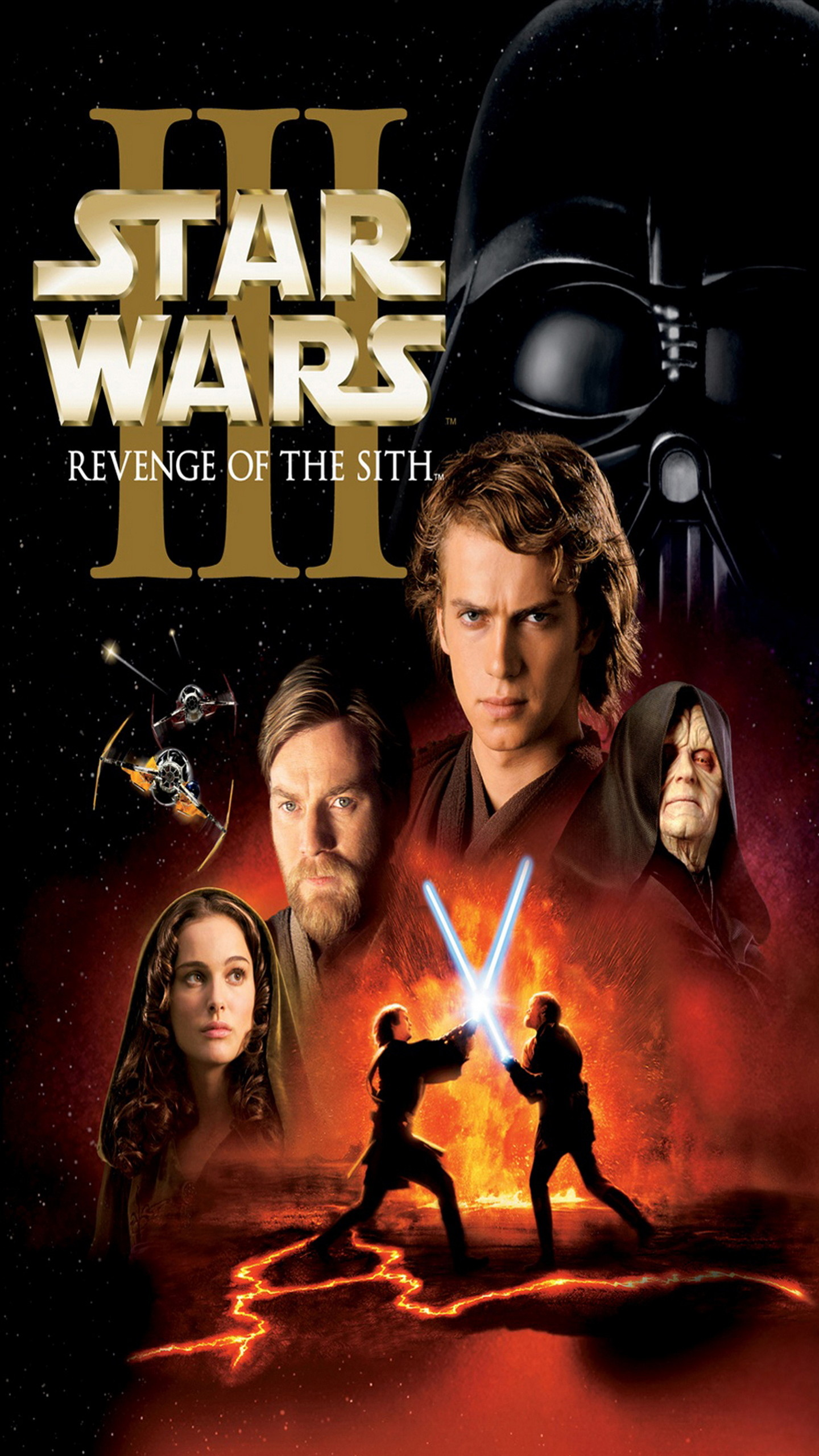 Star Wars Episode Iii Revenge Of The Sith Galaxy Note Star Wars Episode Iii Revenge Of The Sith Poster 1440x2560 Wallpaper Teahub Io