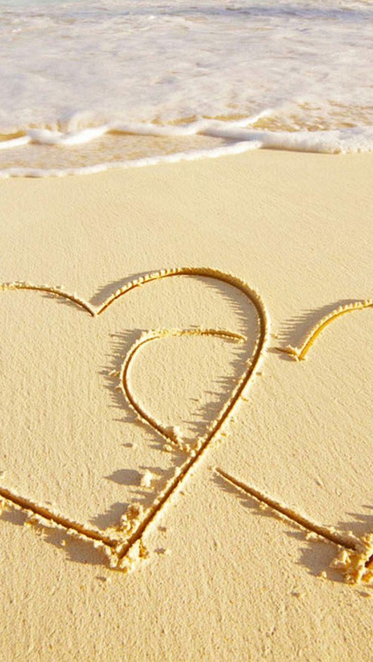 Love Sea Sand Iphone Wallpaper Resolution - Love Hd Mobile Wallpapers 1080p - HD Wallpaper