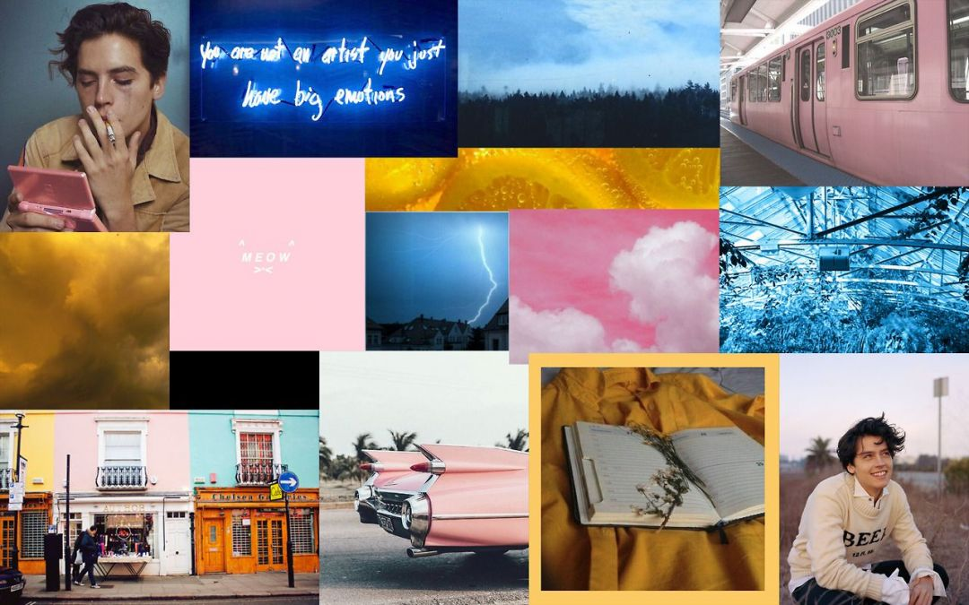 Pink Aesthetic Tumblr Laptop Cole Sprouse Laptop Background 1080x675 Wallpaper Teahub Io