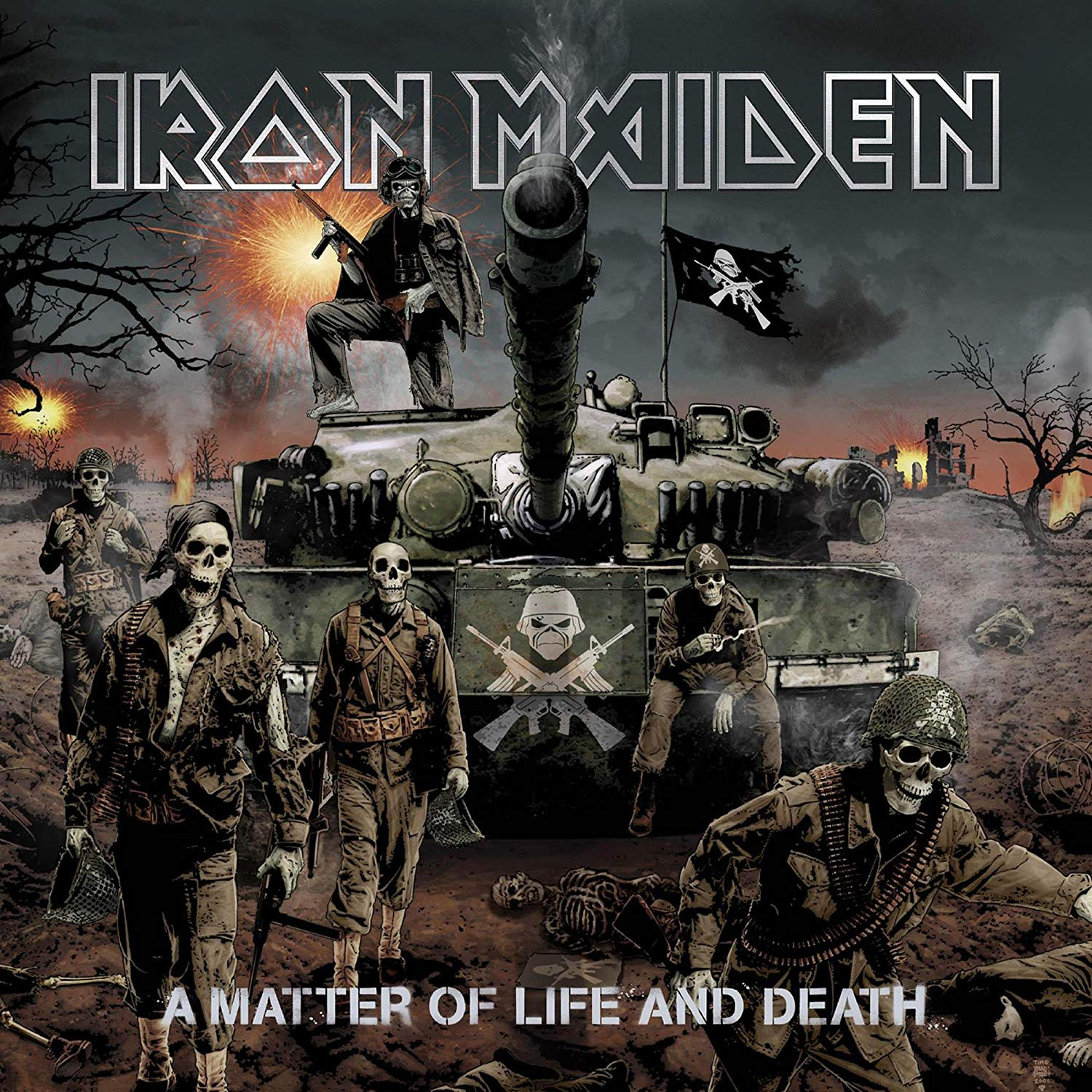 Posterhub Music Iron Maiden Band United Kingdom Metallica - Iron Maiden A Matter Of Life And Death Album Cover - HD Wallpaper