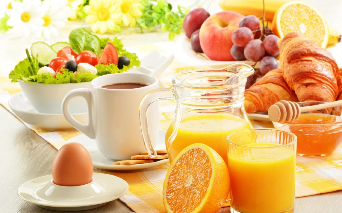 Download Wallpaper Healthy Breakfast In A Hot Summer Morning Breakfast Images Free Download 1130x706 Wallpaper Teahub Io
