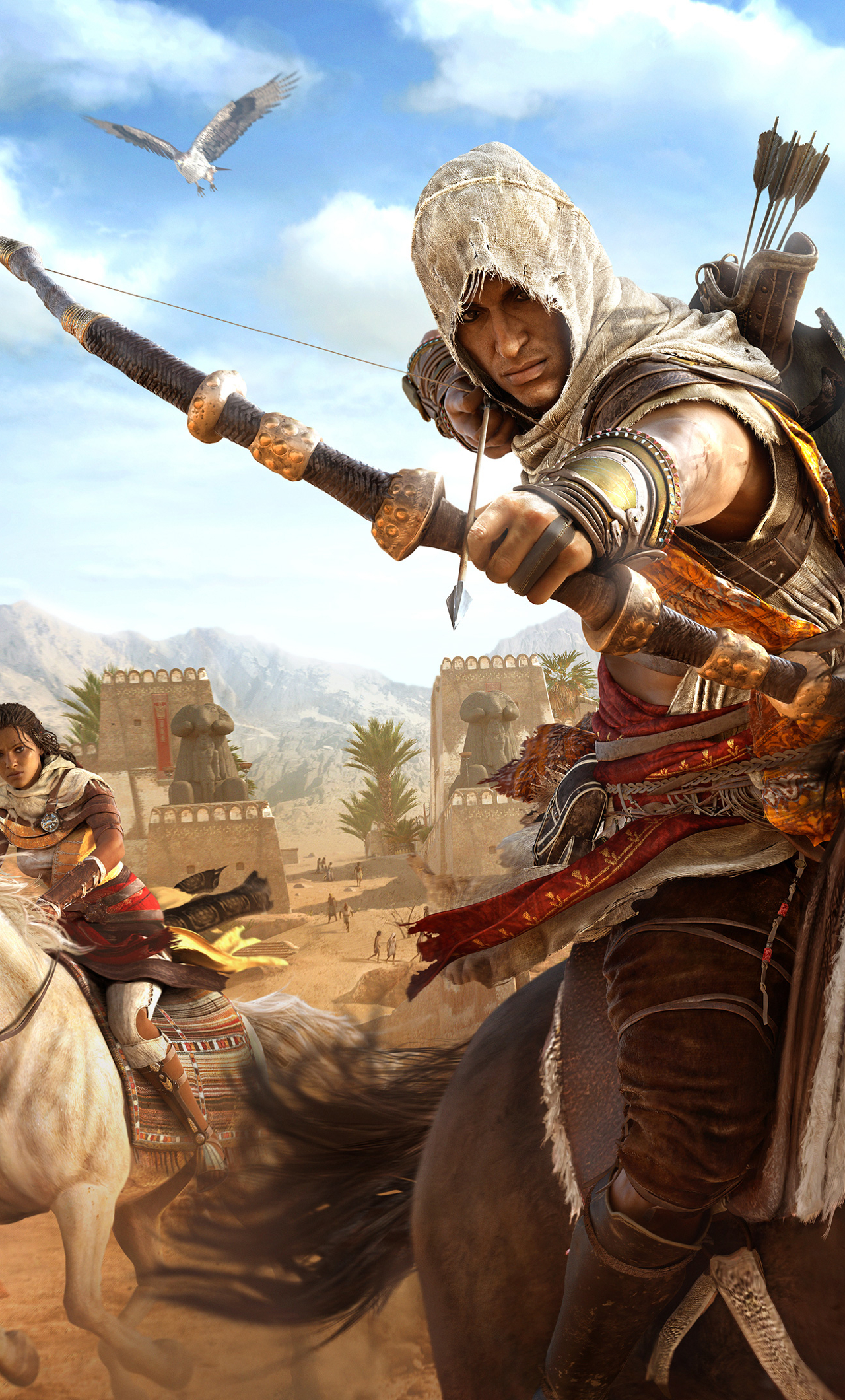 Assassin Creed Origins Wallpaper 4k For Mobile 1280x2120