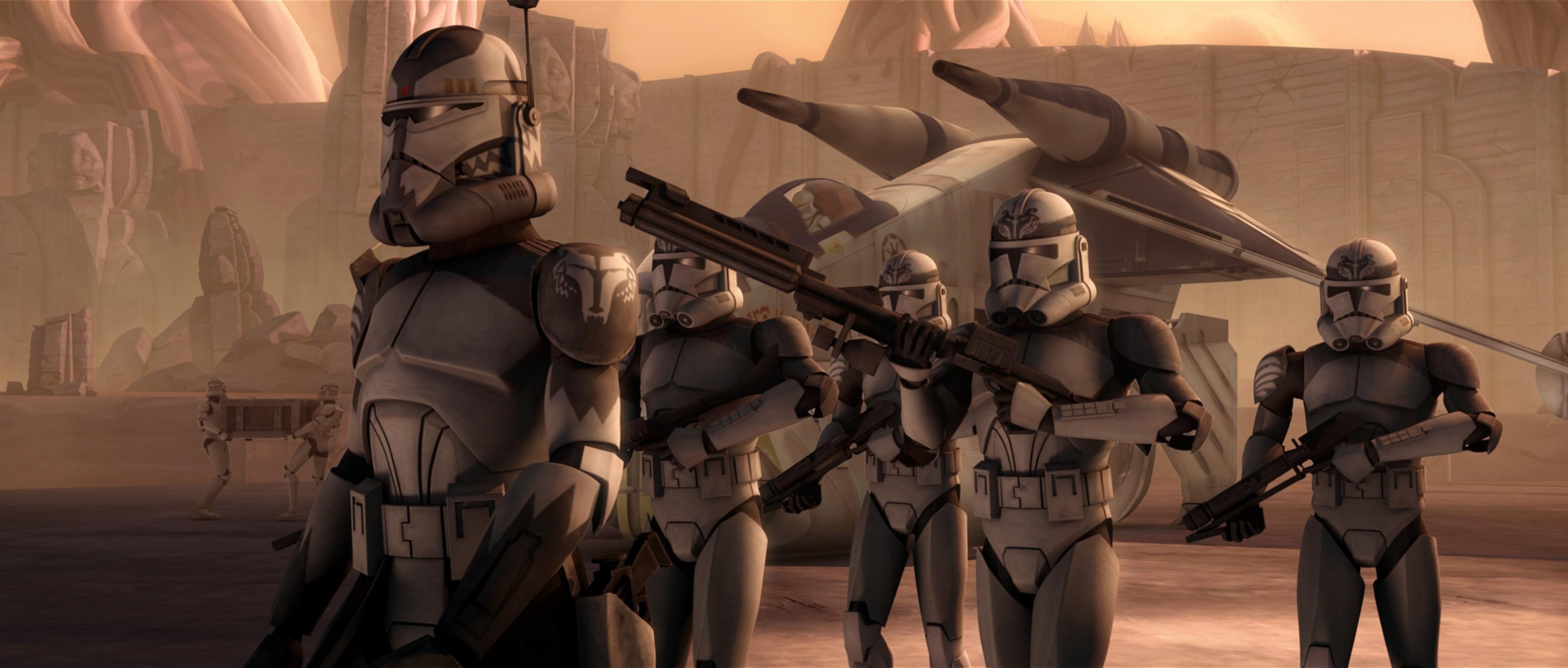 Star Wars Clone Trooper Wallpaper 3600x1533 Wallpaper Teahub Io