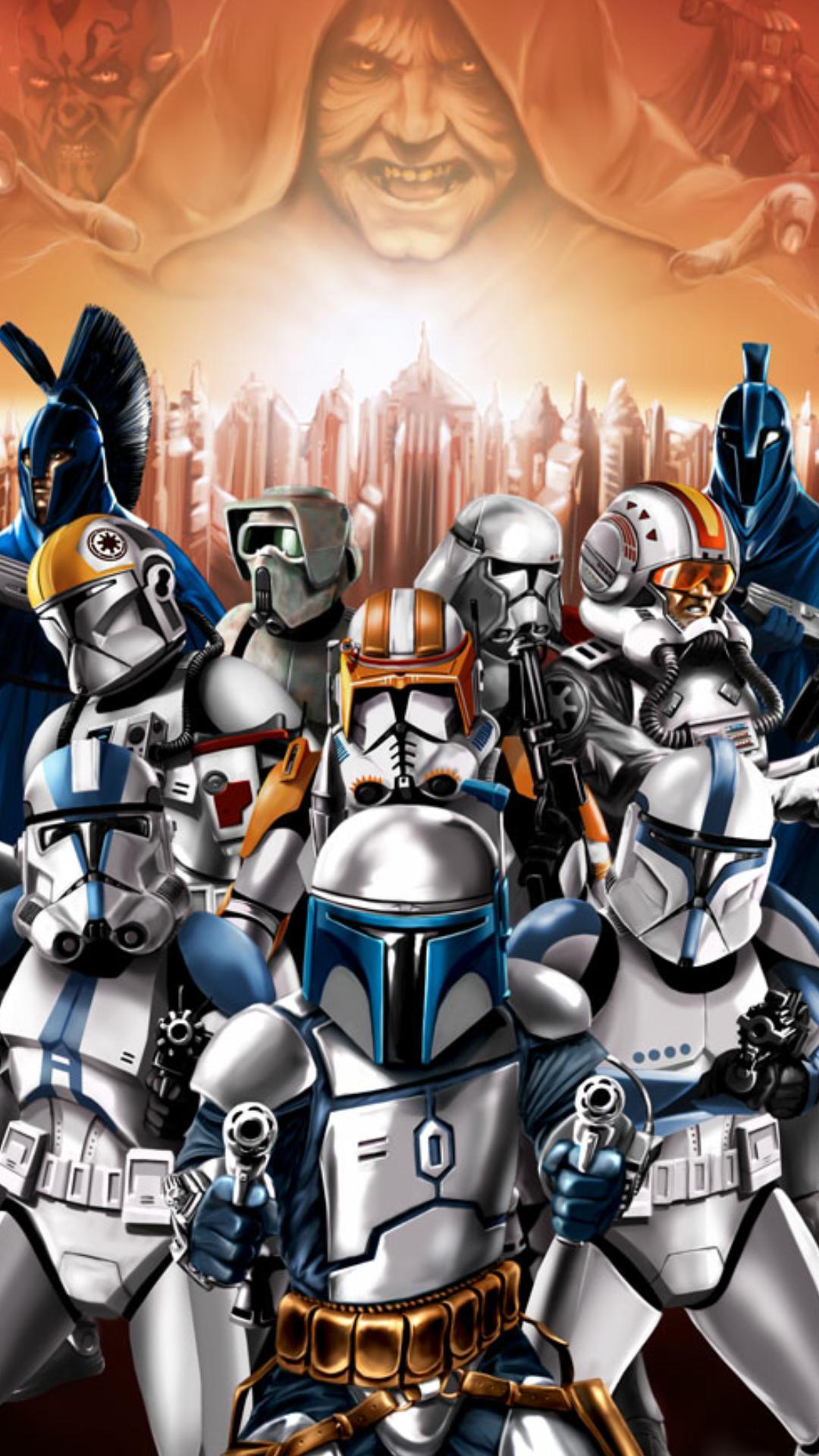 Clone Trooper Wallpaper Star Wars Clone Wars Wallpaper Phone 1080x1920 Wallpaper Teahub Io