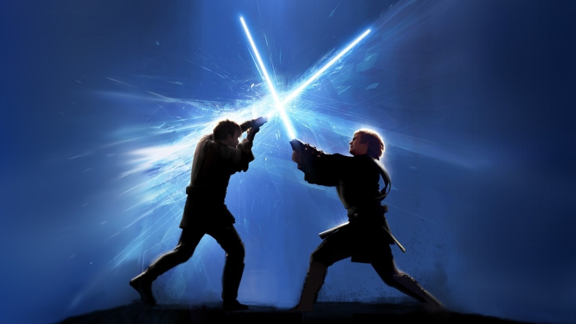 Star Wars Star Wars Star Wars Wallpaper Lightsaber Fight 1920x1080 Wallpaper Teahub Io