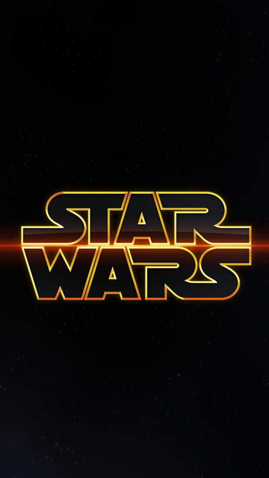 Star Wars Wallpaper Galaxy S8 Star Wars Logo Wallpaper Iphone 890x1582 Wallpaper Teahub Io