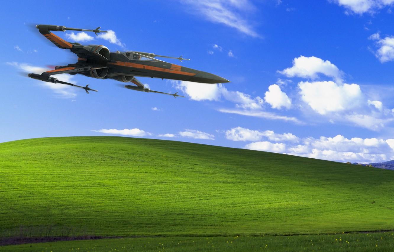 Photo Wallpaper Fighter Star Wars Hill Landscape Windows Xp 1332x850 Wallpaper Teahub Io