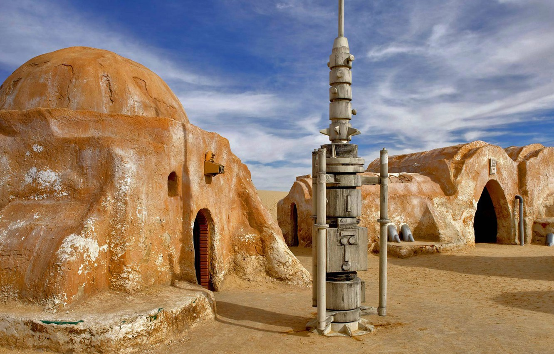 Photo Wallpaper Star Wars The Scenery Tunisia El Tunisia Scenery 1332x850 Wallpaper Teahub Io