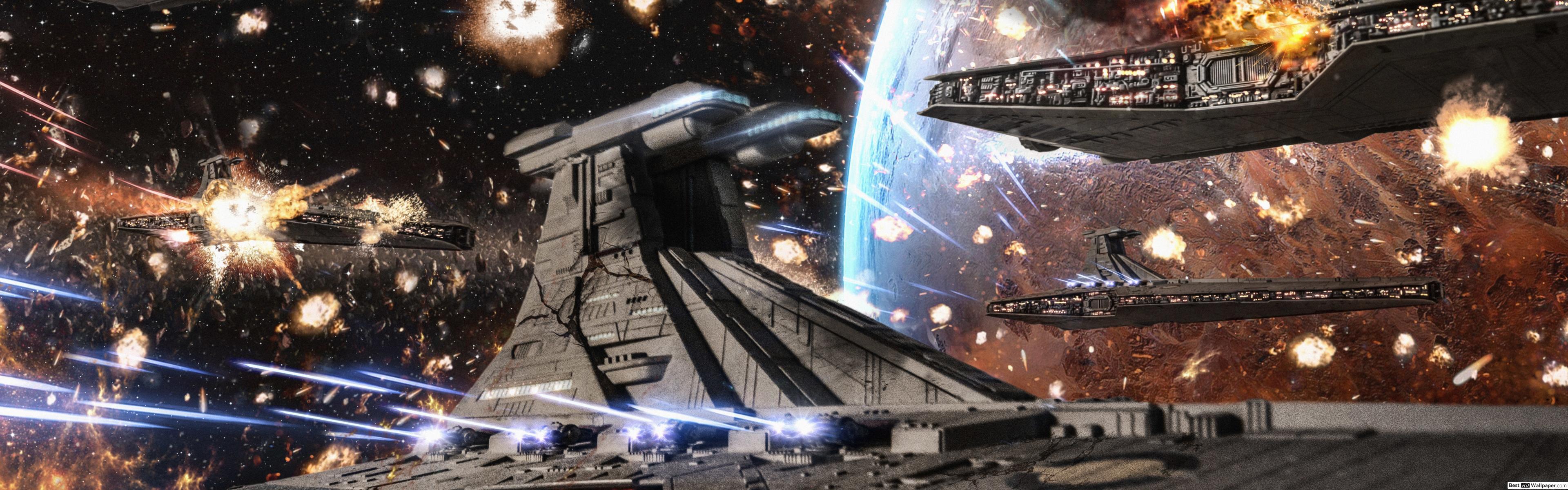 Star Wars Ship Wallpaper Hd 3840x1200 Wallpaper Teahub Io