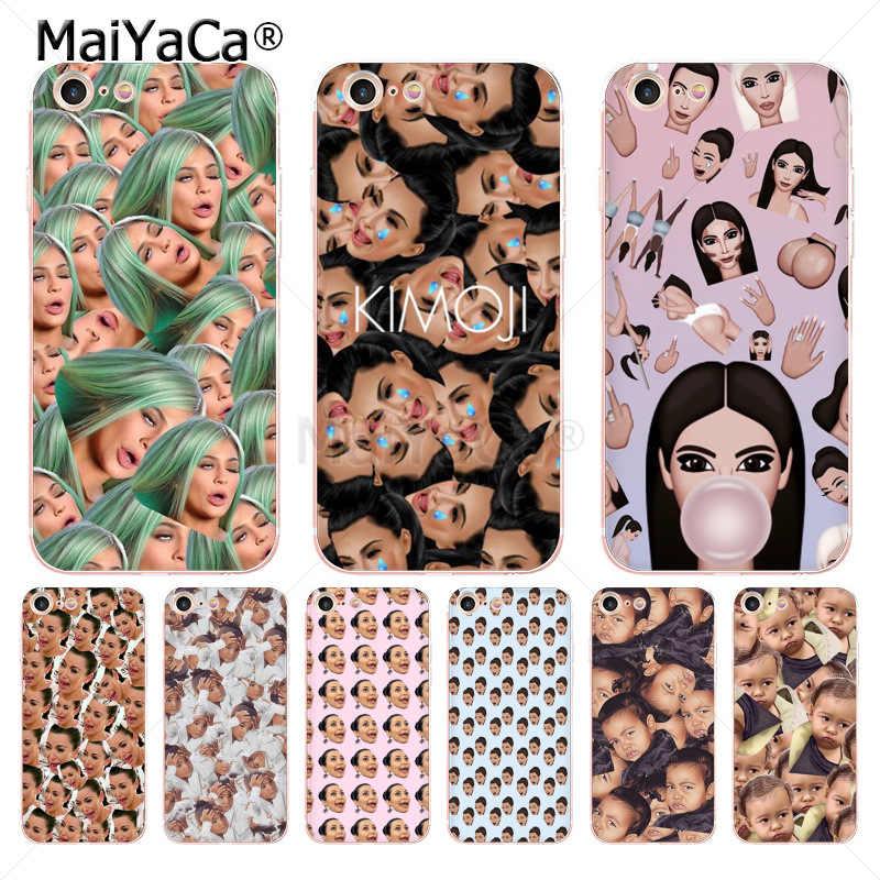 Maiyaca Kimoji Kim Kardashian Kanye West North Kylie - Kimoji Phone Case - HD Wallpaper