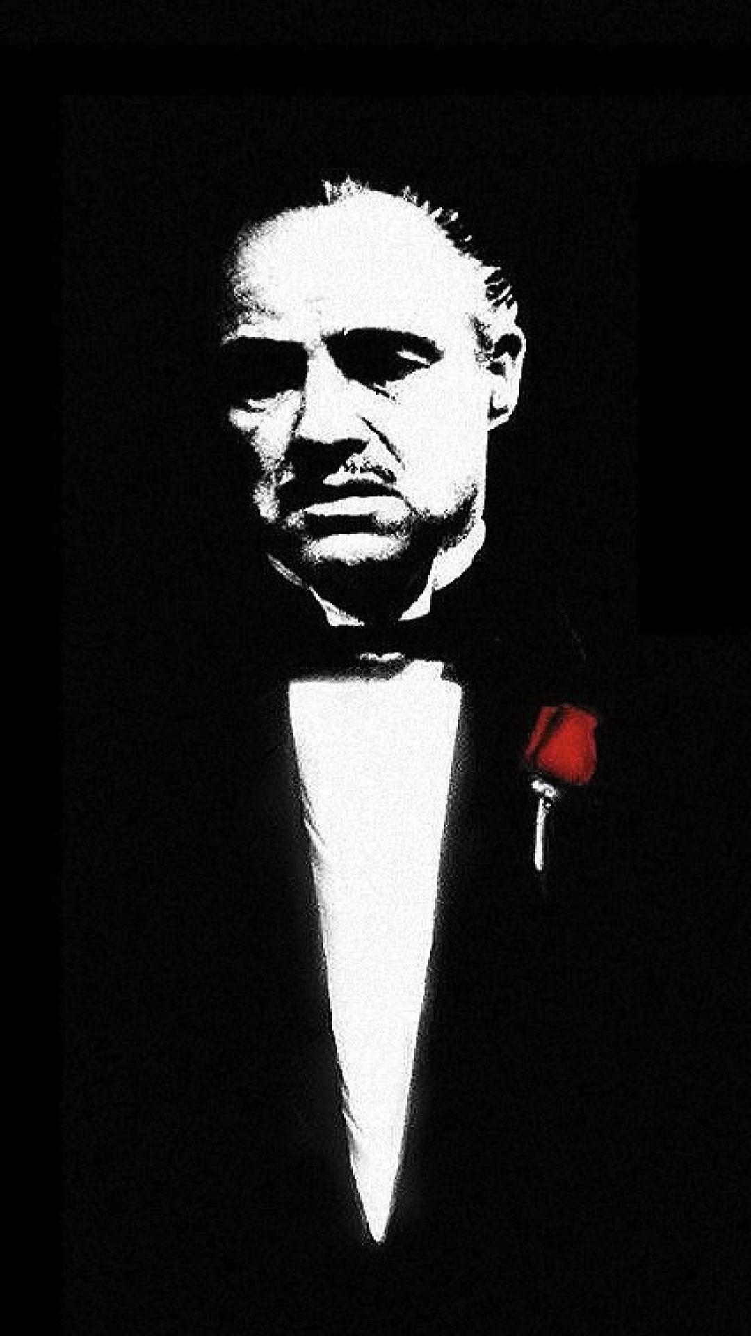 J Cole Wallpaper Iphone - Godfather Portrait - HD Wallpaper