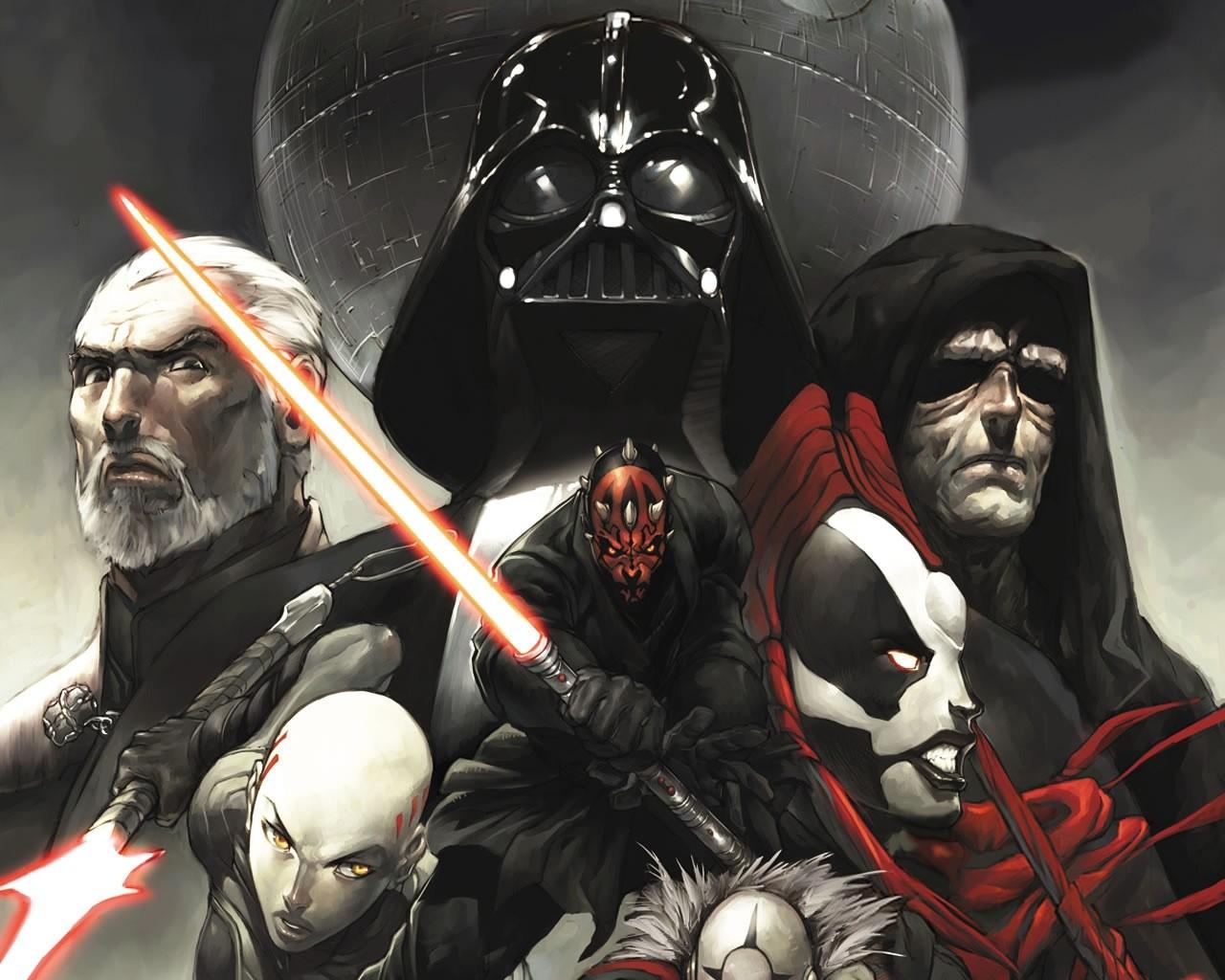 Star Wars Darth Maul Darth Vader Death Star Darth Sidious Star Wars Dark Side Sith Lords 1280x1024 Wallpaper Teahub Io