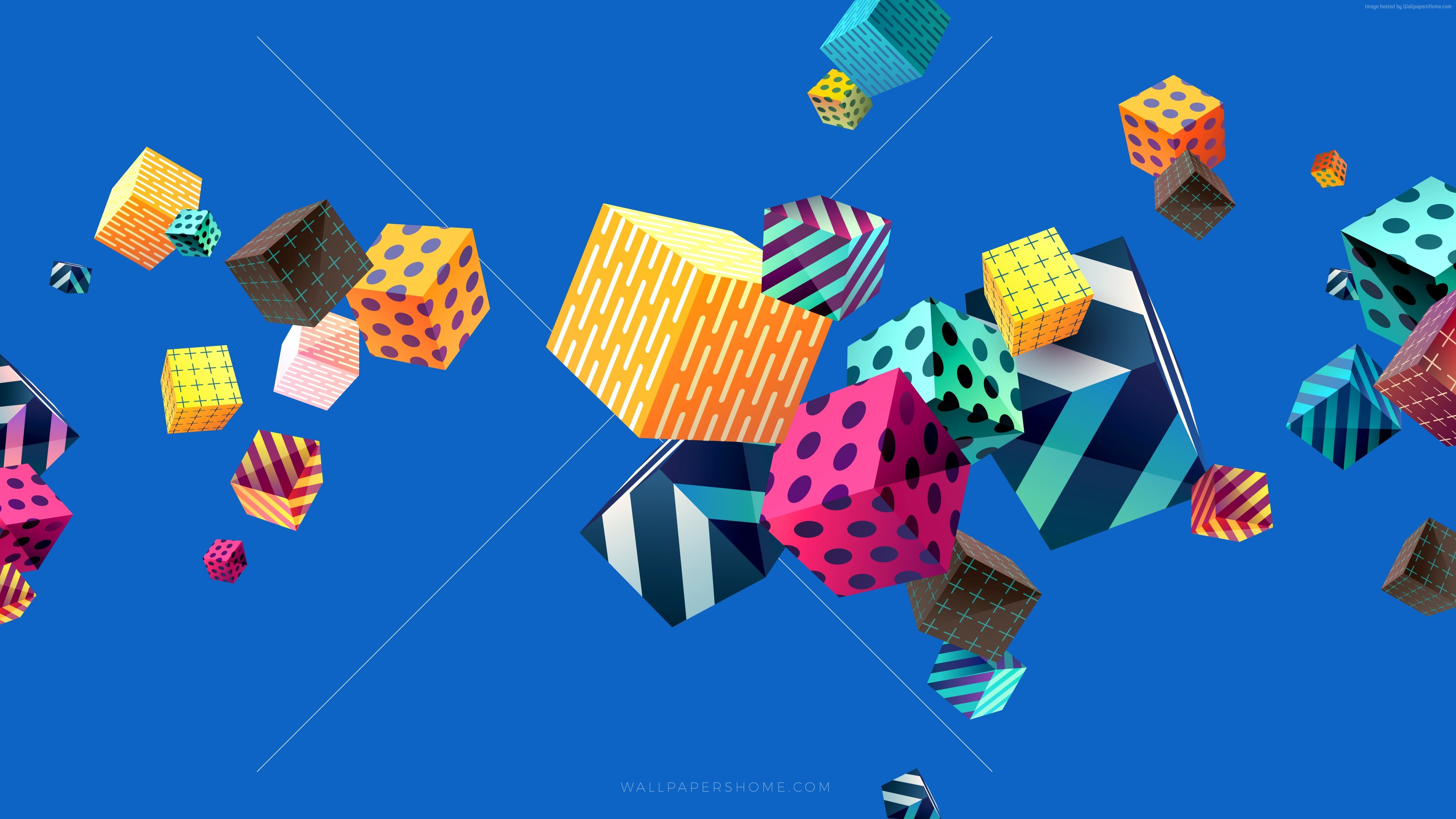 Cubes Colorful 4k, 5k, 8k, Abstract, Colorful, Cubes, - Colorful 4k Wallpaper Abstracts - HD Wallpaper