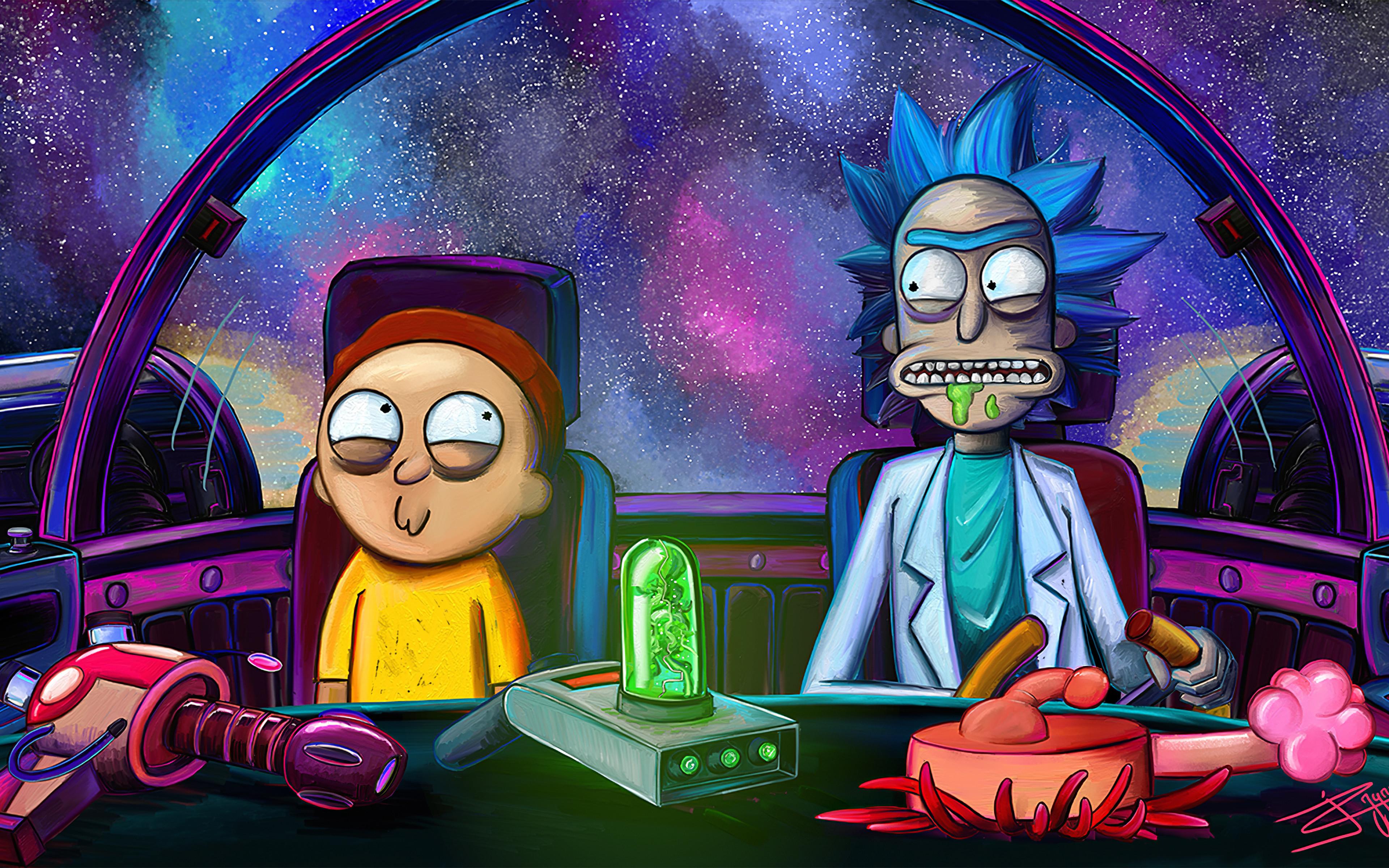 4k Rick And Morty 3840x2400 Wallpaper Teahub Io