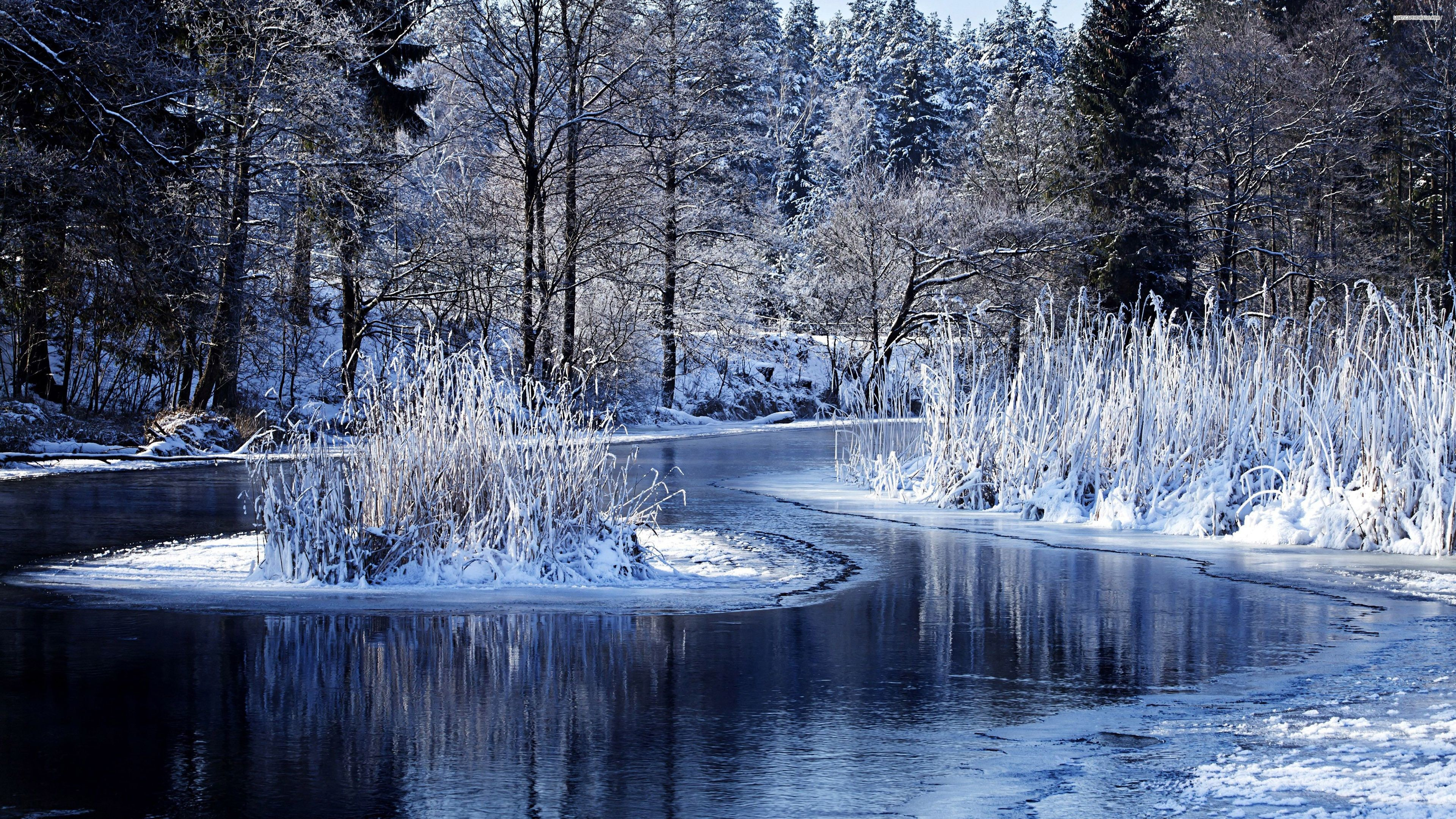 3840x2160 Winter On The Lake 4k Ultra Hd Wallpaper 4k Ultra Hd Winter 3840x2160 Wallpaper Teahub Io