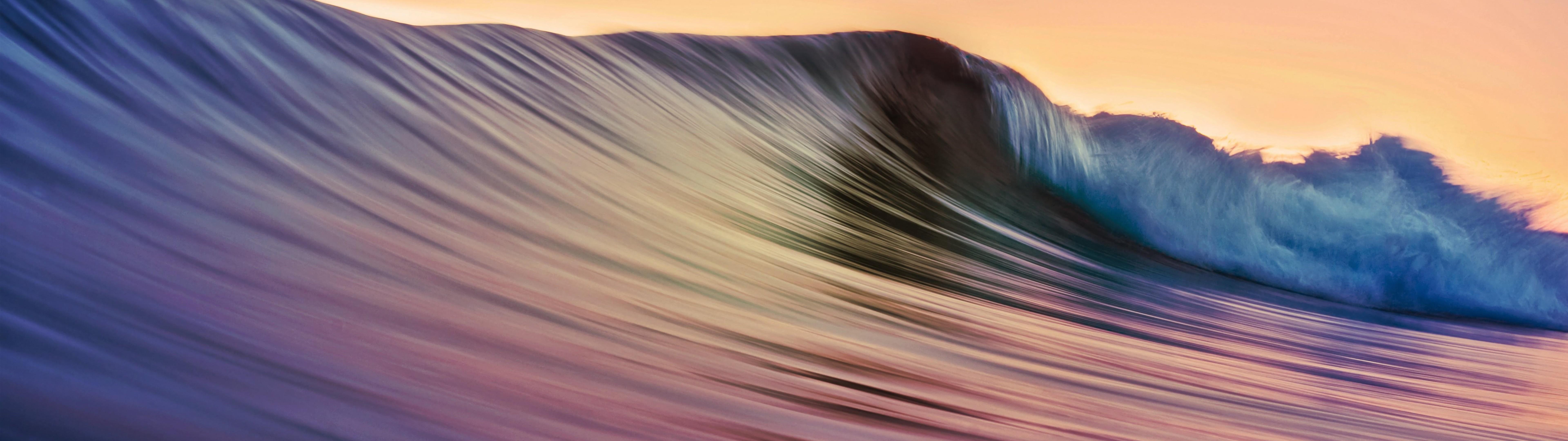 Ocean, Waves, Nature, Scenery, 8k, - 4k Ultra Hd Dual Monitor - HD Wallpaper
