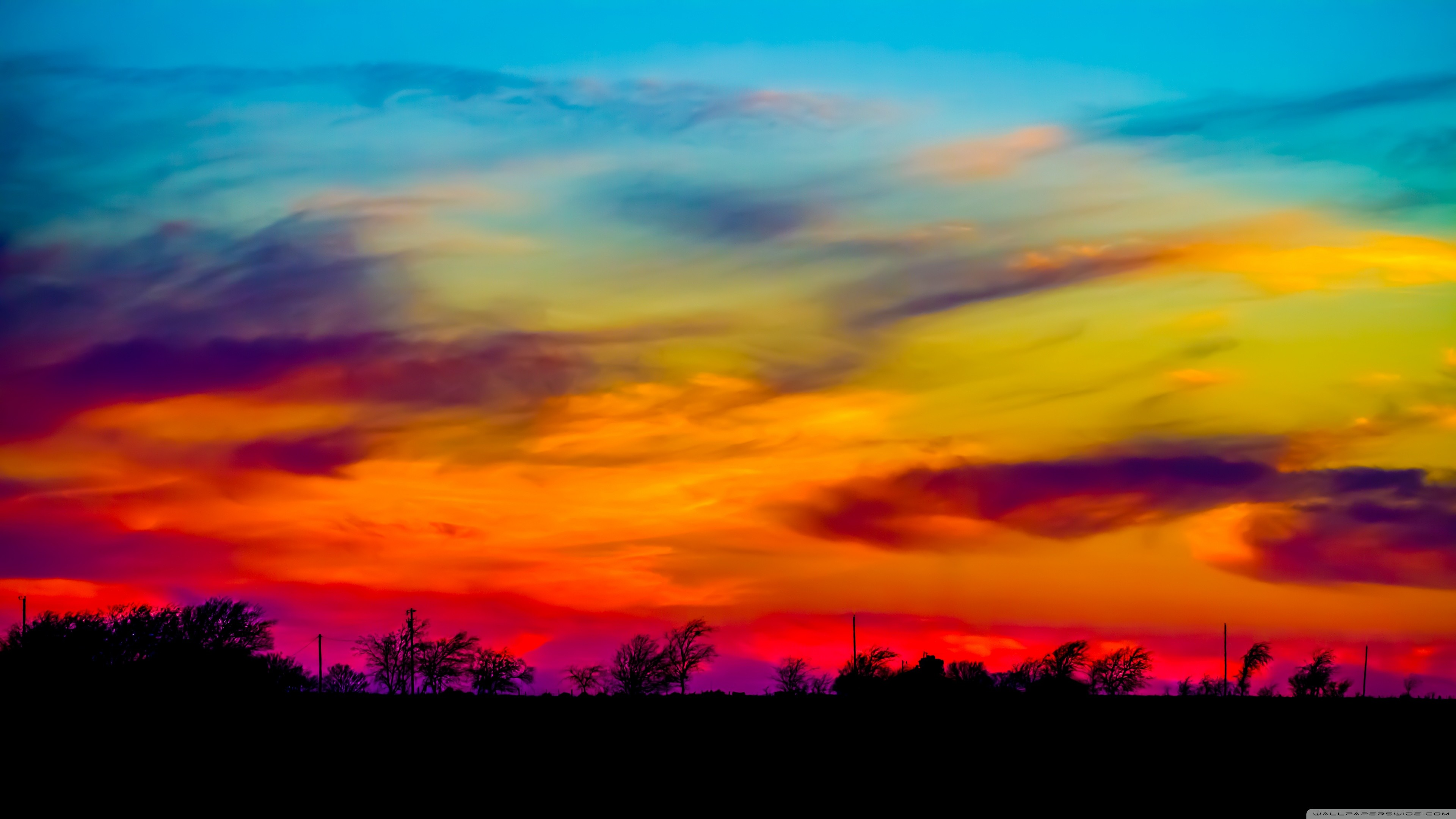 Uhd - High Resolution Colorful Sky - HD Wallpaper