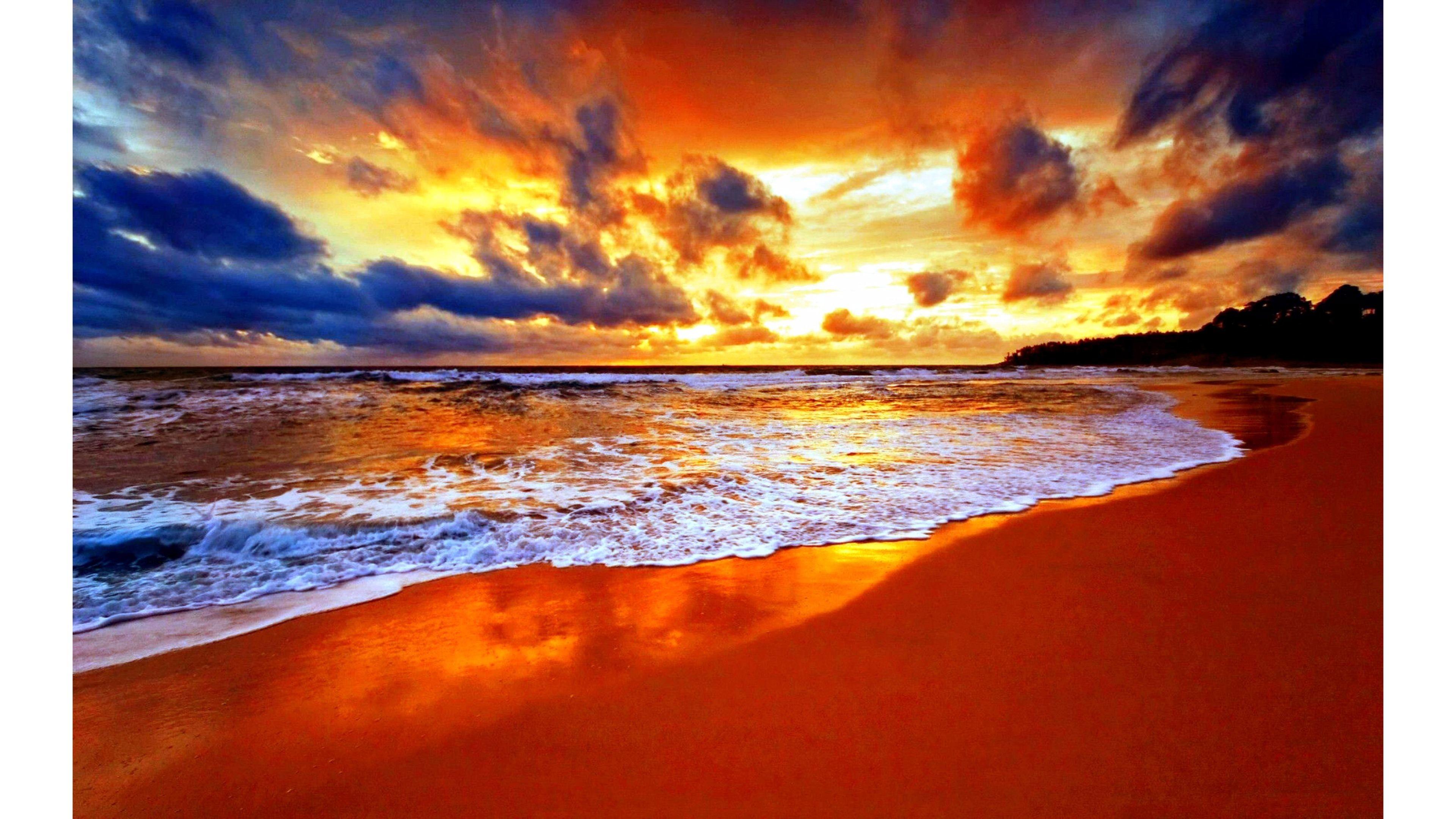 Top Sunset 4k Wallpaper 4k Wallpaper   Data Src Top - Beach Screensavers For Windows 10 - HD Wallpaper