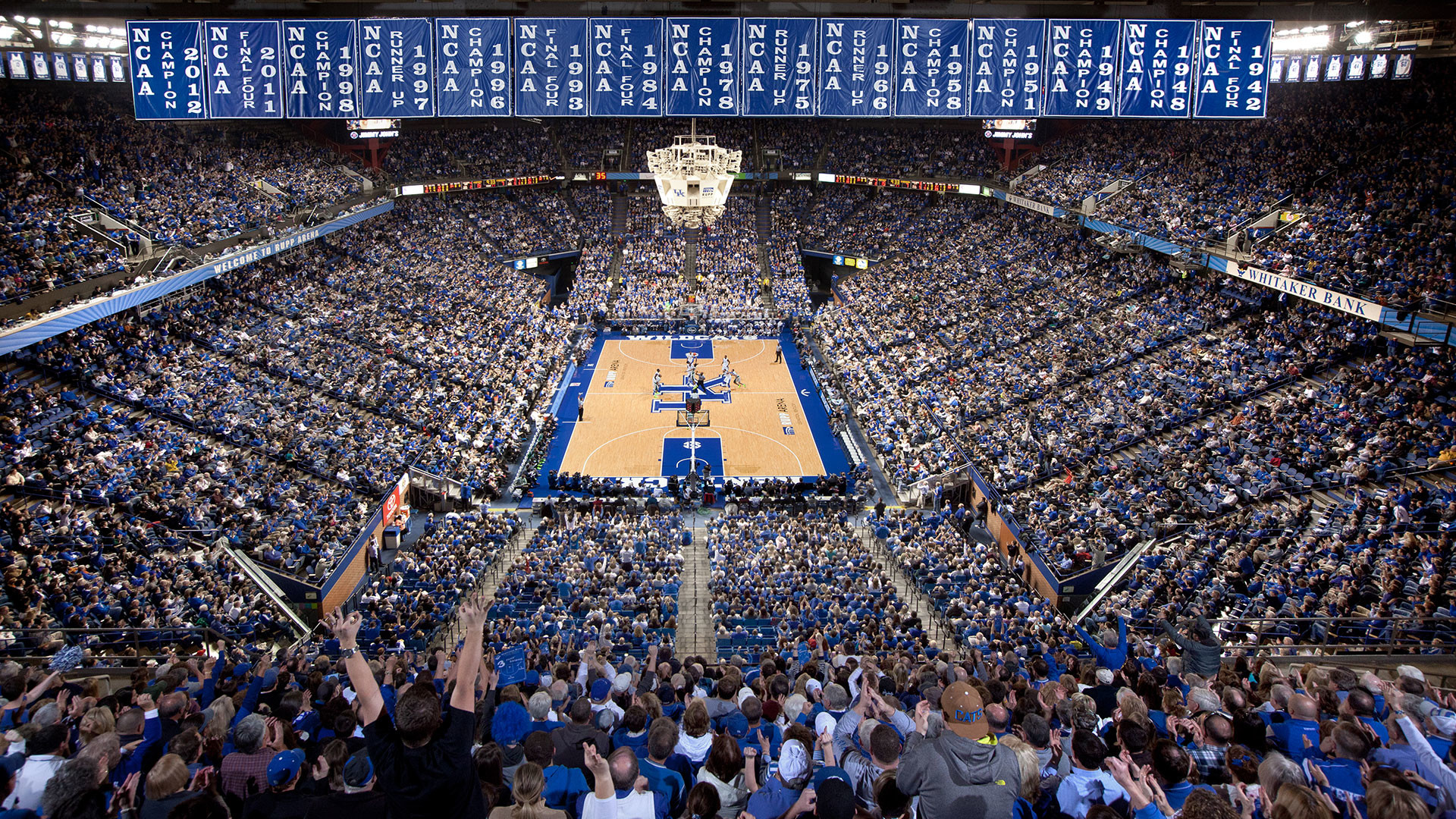 University Of Kentucky Chrome Themes Ios Wallpapers Kentucky Wildcats Basketball Arena 1920x1080 Wallpaper Teahub Io