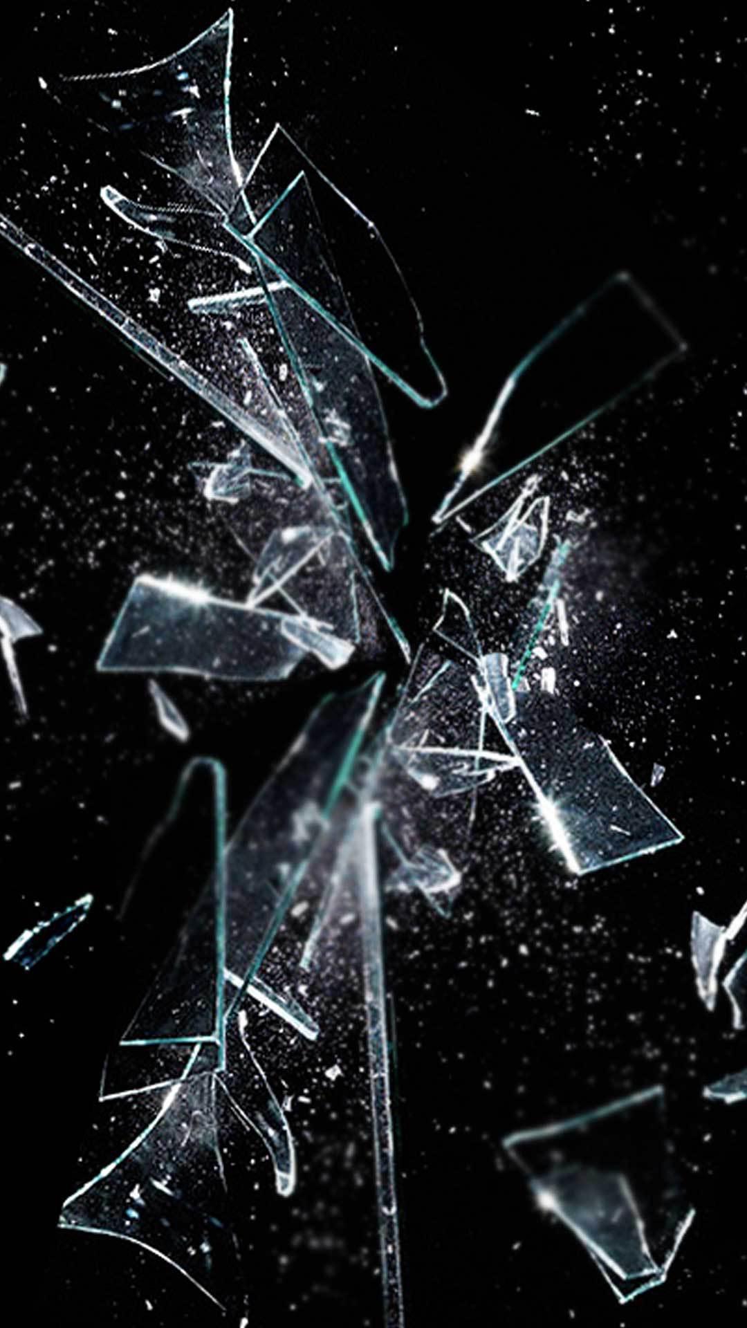 Iphone 7 Plus Cracked Screen - HD Wallpaper