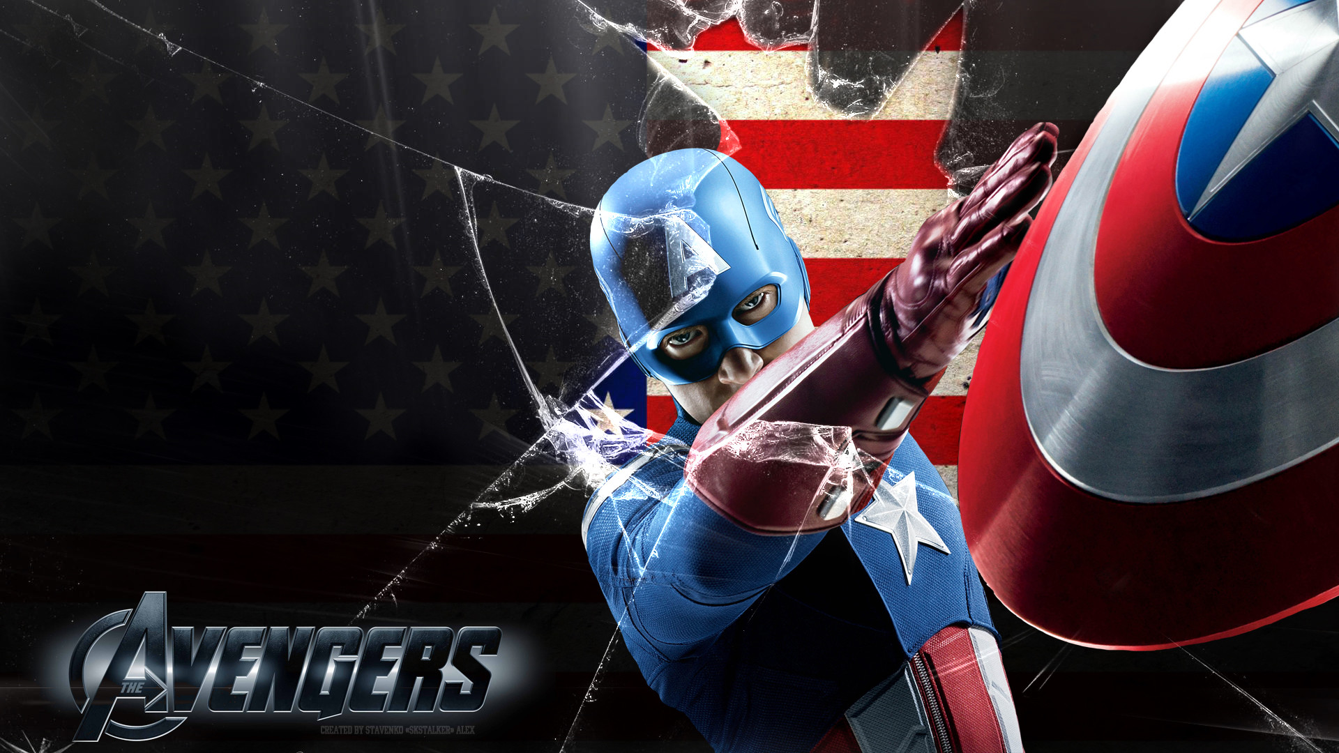 1920x1080, Captain America Avengers Wallpapers For - Avengers 2012 Captain America - HD Wallpaper