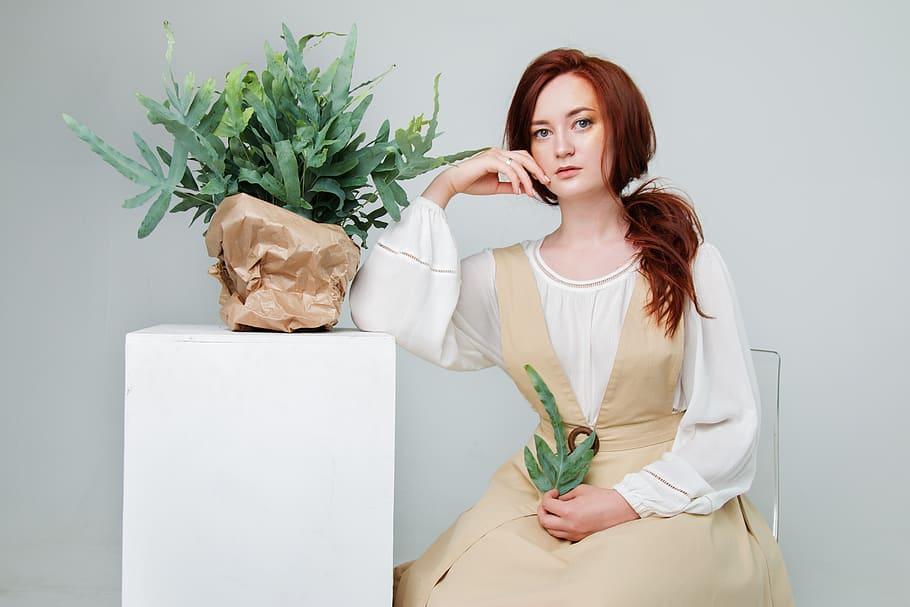 Girl, Woman, Young, Beautiful, Model, Redhead, Hair, - Woman - HD Wallpaper