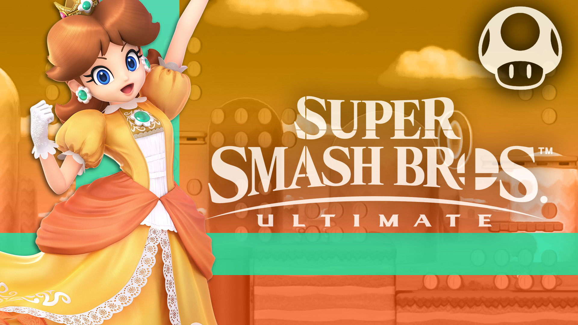 1920x1080, Princess Daisy - Snake Super Smash Bros Ultimate - HD Wallpaper