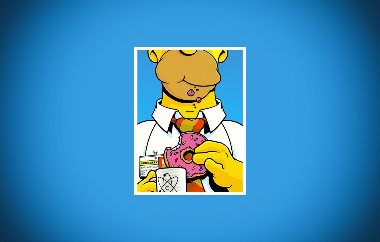 Photo Wallpaper The Simpsons, Figure, Frame, Homer, - Donut Simpson - HD Wallpaper