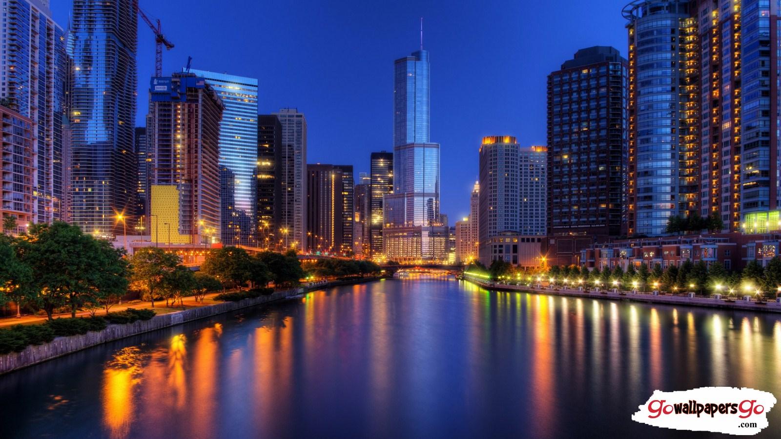 196 1969475 beautiful city night look wallpaper chicago night