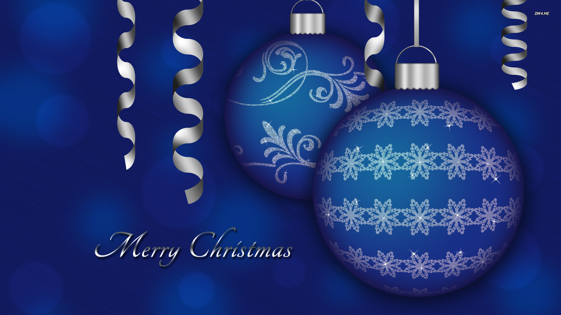 Ideas About Christmas Desktop Wallpaper On Pinterest - Merry Christmas Blue Ornaments - HD Wallpaper