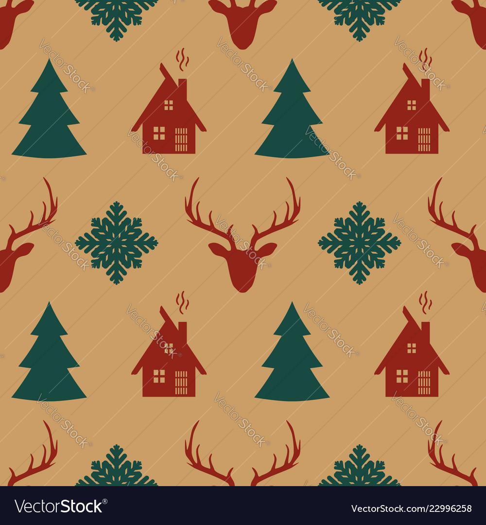 Ornament Wallpaper Christmas Pattern - HD Wallpaper