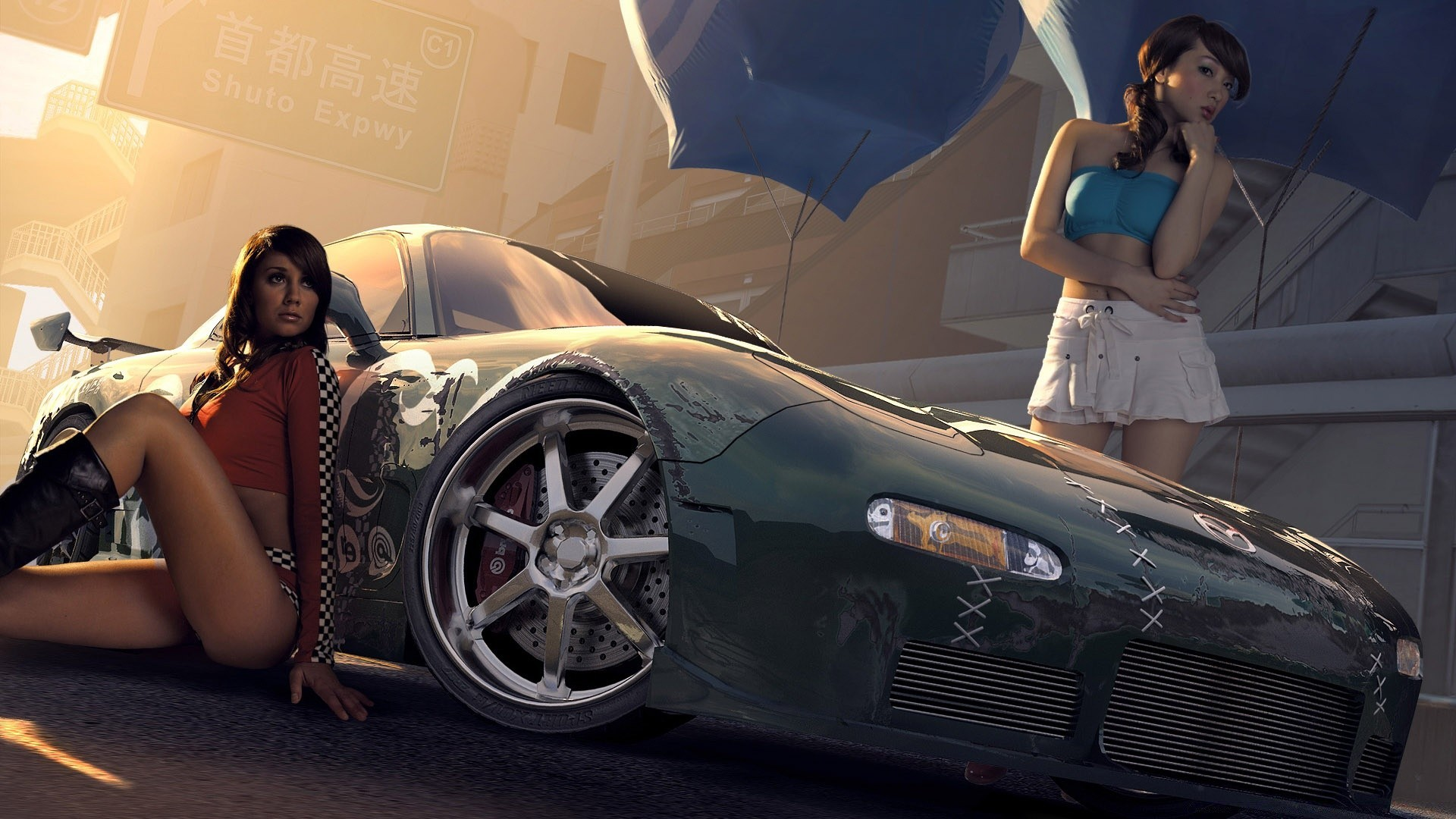 Need For Speed Car Vehicle Woman Girl Transportation - Need For Speed Prostreet Girl - HD Wallpaper