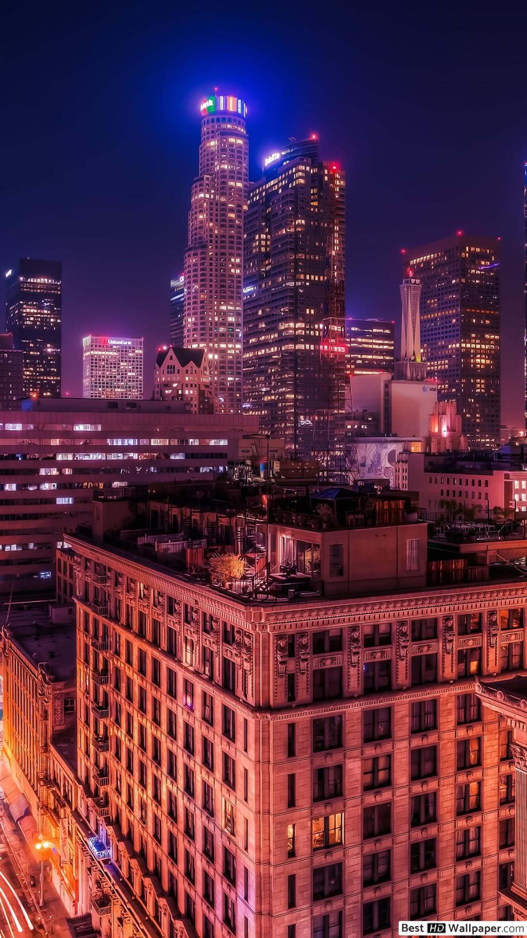 ロサンゼルス 夜景 壁紙 1080x19 Wallpaper Teahub Io