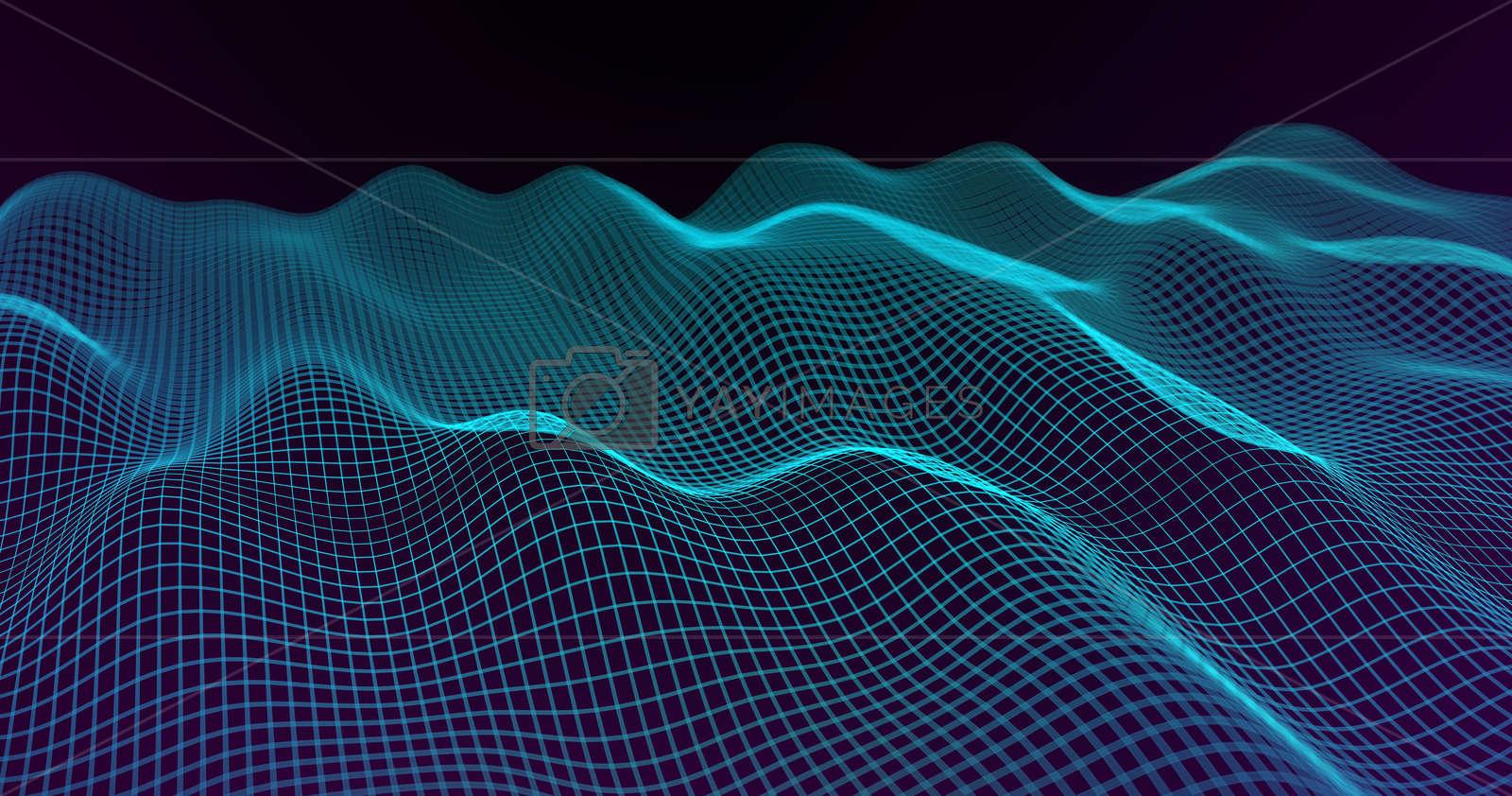Abstract Big Data Futuristic Light Wallpaper Background - Illustration - HD Wallpaper
