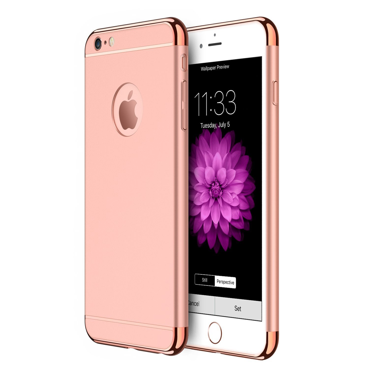 Laudtec 3 In 1 Ultra Thin Shockproof Cover With Detachable - Husa Iphone 6 Gold - HD Wallpaper