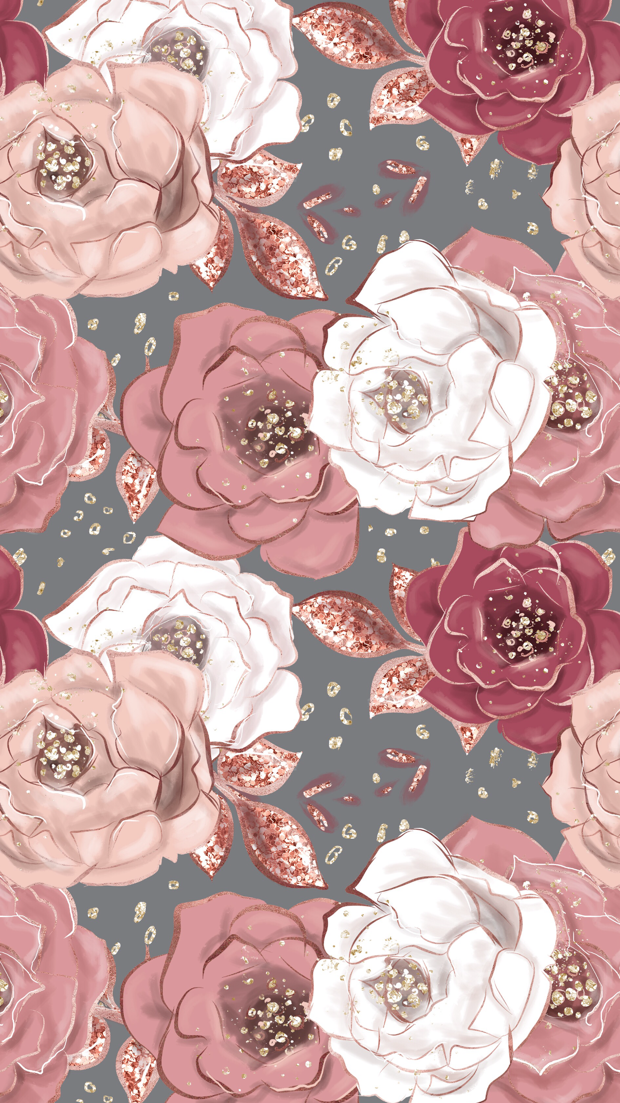 Rose Gold Cute Backgrounds 1242x2208 Wallpaper Teahub Io