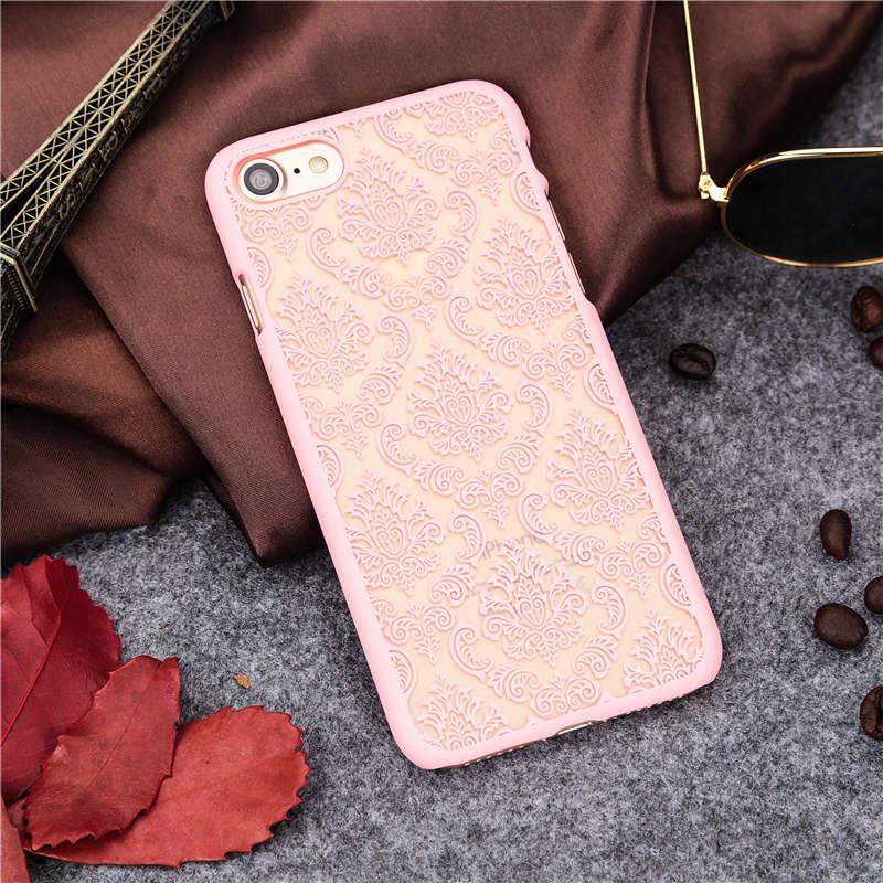 Pink Vintage Flower Iphone 7 Plus Case - HD Wallpaper