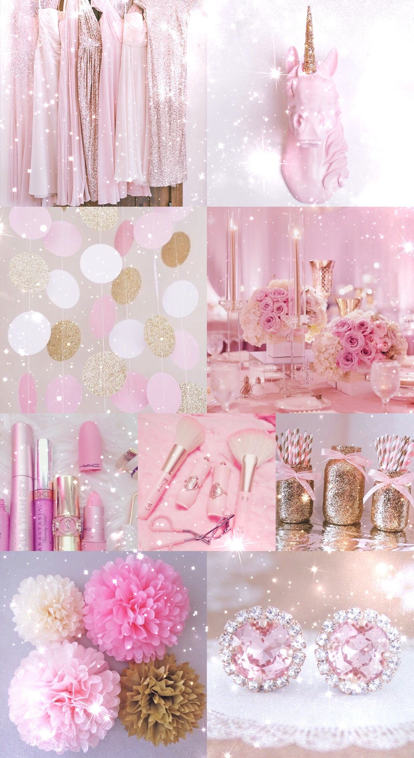 Pink, Gold, Wallpaper, Background, Hd, Iphone, Glitter, - Glitter Cute Wallpapers For Iphone - HD Wallpaper