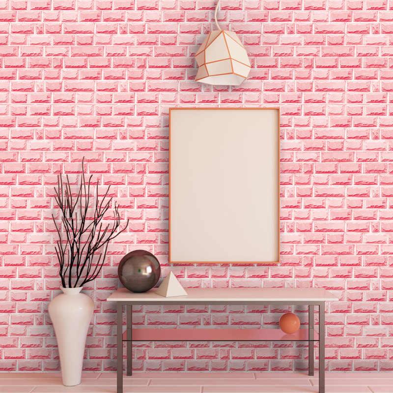 Grey Wall With Pink Brick - HD Wallpaper