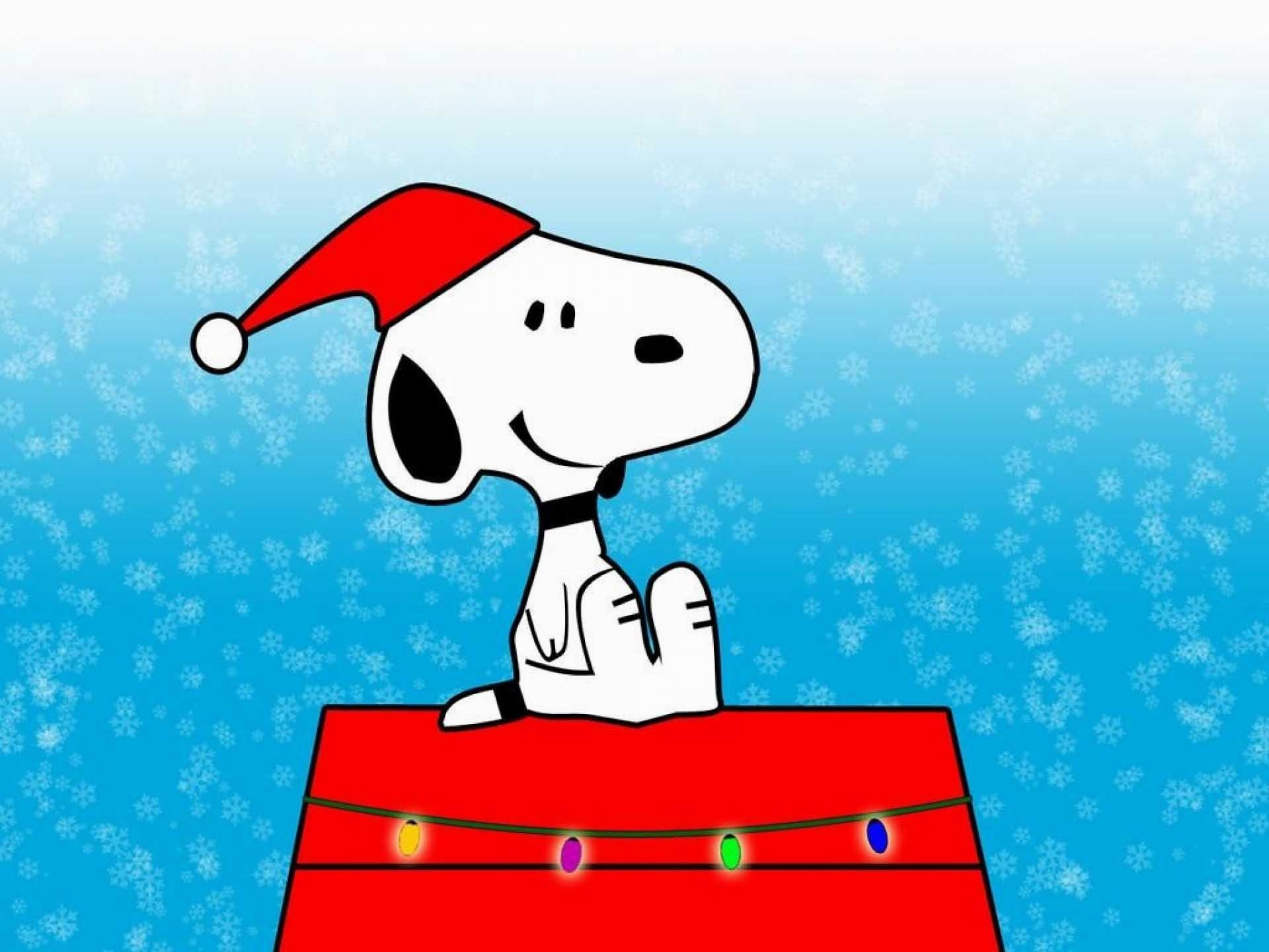 Wallpaper - Cute Snoopy Christmas Background - HD Wallpaper